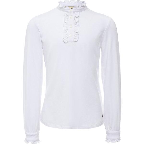 Блузка для девочки Finn FlareБлузки и рубашки<br>Блузка для девочки известной марки Finn Flare.<br><br>Школьная блузка для девочки может использоваться для повседневной носки. Блузка декорирована мелкими рюшами у горловины, по длине застежки на пуговицах. Длинные рукава оснащены манжетами, которые застегиваются на пуговицы. Манжеты имеют маленькие рюшки. <br><br>Фактура материала: Трикотажный<br>Вид застежки: Пуговицы<br>Длина рукава: Длинные<br>Тип карманов: Без карманов<br><br>Состав: 95% вискоза, 5% эластан<br><br>Блузку для девочки Finn Flare можно купить в нашем интернет-магазине.<br><br>Ширина мм: 186<br>Глубина мм: 87<br>Высота мм: 198<br>Вес г: 197<br>Цвет: белый<br>Возраст от месяцев: 60<br>Возраст до месяцев: 72<br>Пол: Женский<br>Возраст: Детский<br>Размер: 116,158,152,146,140,134,128,122<br>SKU: 4890194
