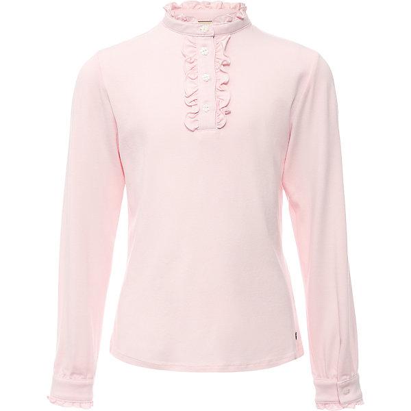 Блузка для девочки Finn FlareБлузки и рубашки<br>Блузка для девочки известной марки Finn Flare.<br><br>Школьная блузка для девочки может использоваться для повседневной носки. Блузка декорирована мелкими рюшами у горловины, по длине застежки на пуговицах. Длинные рукава оснащены манжетами, которые застегиваются на пуговицы. Манжеты имеют маленькие рюшки. <br><br>Фактура материала: Трикотажный<br>Вид застежки: Пуговицы<br>Длина рукава: Длинные<br>Тип карманов: Без карманов<br><br>Состав: 95% вискоза, 5% эластан<br><br>Блузку для девочки Finn Flare можно купить в нашем интернет-магазине.<br><br>Ширина мм: 186<br>Глубина мм: 87<br>Высота мм: 198<br>Вес г: 197<br>Цвет: розовый<br>Возраст от месяцев: 60<br>Возраст до месяцев: 72<br>Пол: Женский<br>Возраст: Детский<br>Размер: 116,158,152,146,140,134,128,122<br>SKU: 4890203