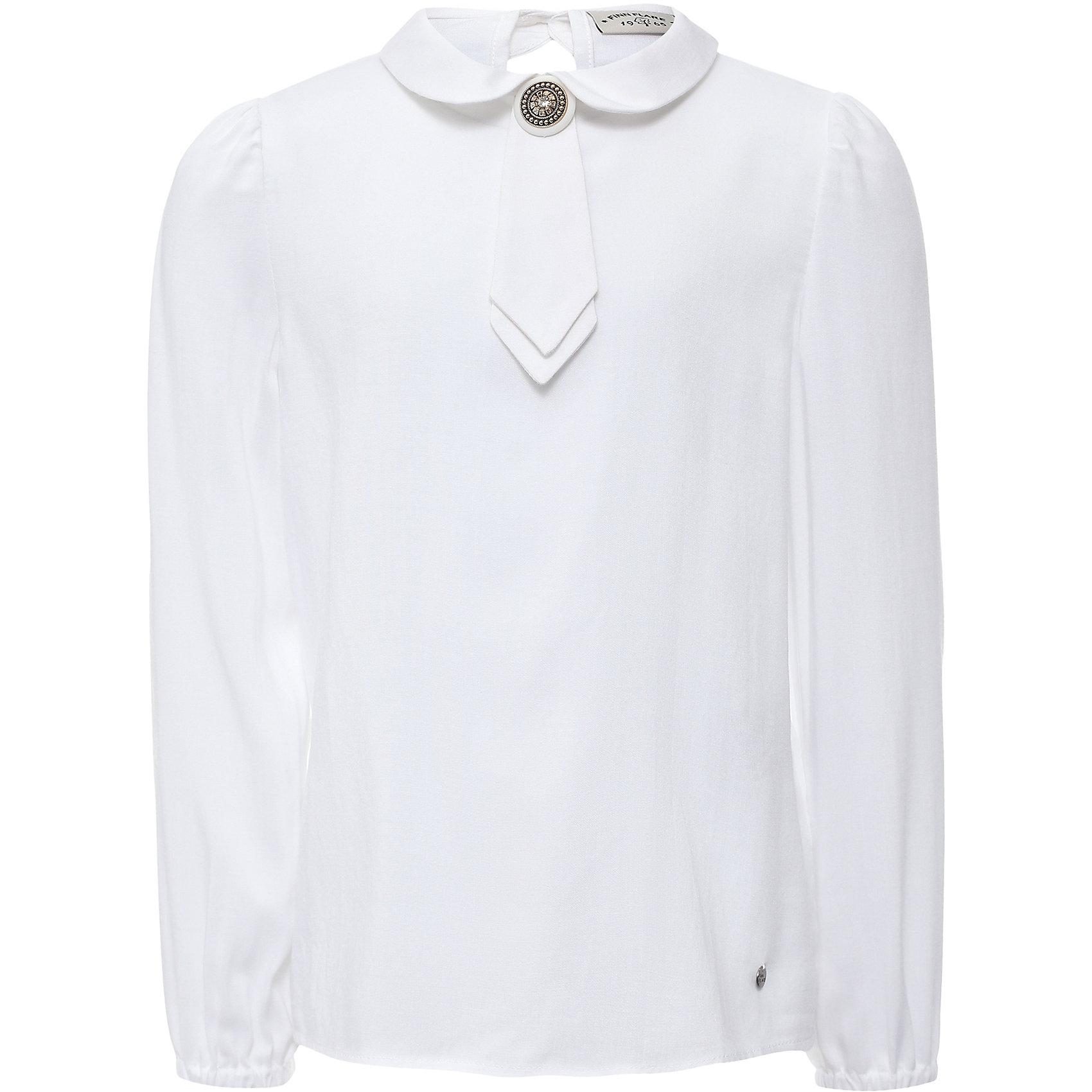 Блузка для девочки Finn FlareБлузки и рубашки<br>Блузка для девочки известной марки Finn Flare.<br><br>Школьная блузка для девочки декорирована галстуком в тон блузки, имеет длинные рукава на резиночках. Блузка застегивается сзади, есть пуговичка на воротничке. Блузка сочетается с юбками и брюками, можно носить навыпуск или заправлять. <br><br>Фактура материала: Текстильный<br>Вид застежки: Пуговицы<br>Длина рукава: Длинные<br>Тип карманов: Без карманов<br><br>Состав: 95% вискоза, 5% эластан<br><br>Блузку для девочки Finn Flare можно купить в нашем интернет-магазине.<br><br>Ширина мм: 186<br>Глубина мм: 87<br>Высота мм: 198<br>Вес г: 197<br>Цвет: белый<br>Возраст от месяцев: 108<br>Возраст до месяцев: 120<br>Пол: Женский<br>Возраст: Детский<br>Размер: 140,122,128,134,146,152,158,116<br>SKU: 4890239