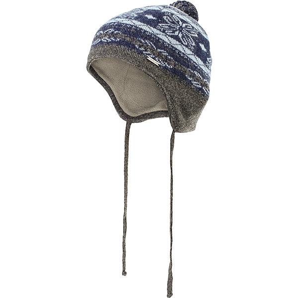 Шапка для мальчика Finn FlareГоловные уборы<br>Шапка известной марки Finn Flare.<br><br>Детская шапка на подкладке дополнена завязками, которые позволяют хорошо надеть шапку и туго ее завязать, чтобы надежно защитить ребенка от воздействия холодного ветра. Удлиненный мыс шапки в задней ее части дополнительно защищает и шею ребенка. Шапка украшена помпоном, декорирована принтом «снежинки и ромбы». Надевать шапку рекомендуется в период осенних холодов. <br><br>Состав: 80% шерсть, 20% нейлон<br>Подкладка: 100% полиэстер<br><br>Шапку для мальчика Finn Flare можно купить в нашем интернет-магазине.<br><br>Ширина мм: 89<br>Глубина мм: 117<br>Высота мм: 44<br>Вес г: 155<br>Цвет: синий<br>Возраст от месяцев: 48<br>Возраст до месяцев: 60<br>Пол: Мужской<br>Возраст: Детский<br>Размер: 52<br>SKU: 4890392