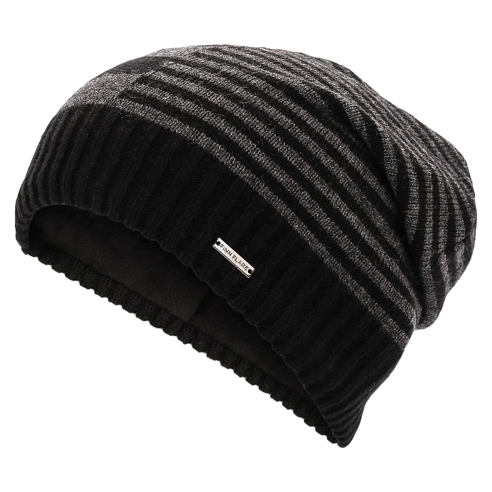 Шапка для мальчика Finn FlareГоловные уборы<br>Шапка известной марки Finn Flare.<br><br>Утепленная шапка на подкладке надежно защищает ребенка в осенне-весенний период, когда на улице холодно и дует ветер. Полосатый принт шапки, широкая окантовка и спущенный мысок на макушке выгодно выделяют шапку среди других моделей. <br><br>Состав: 50% акрил, 50% шерсть<br>Подкладка: 100% полиэстер<br><br>Шапку для мальчика Finn Flare можно купить в нашем интернет-магазине.<br><br>Ширина мм: 89<br>Глубина мм: 117<br>Высота мм: 44<br>Вес г: 155<br>Цвет: черный<br>Возраст от месяцев: 60<br>Возраст до месяцев: 72<br>Пол: Мужской<br>Возраст: Детский<br>Размер: 54<br>SKU: 4890398