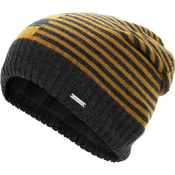 Шапка для мальчика Finn FlareГоловные уборы<br>Шапка известной марки Finn Flare.<br><br>Утепленная шапка на подкладке надежно защищает ребенка в осенне-весенний период, когда на улице холодно и дует ветер. Полосатый принт шапки, широкая окантовка и спущенный мысок на макушке выгодно выделяют шапку среди других моделей. <br><br>Состав: 50% акрил, 50% шерсть<br>Подкладка: 100% полиэстер<br><br>Шапку для мальчика Finn Flare можно купить в нашем интернет-магазине.<br><br>Ширина мм: 89<br>Глубина мм: 117<br>Высота мм: 44<br>Вес г: 155<br>Цвет: серый<br>Возраст от месяцев: 60<br>Возраст до месяцев: 72<br>Пол: Мужской<br>Возраст: Детский<br>Размер: 54<br>SKU: 4890400
