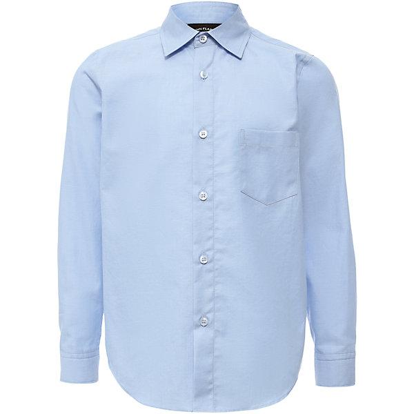 Рубашка для мальчика Finn FlareБлузки и рубашки<br>Рубашка для мальчика известной марки Finn Flare.<br><br>Школьная рубашка для мальчика предназначена для повседневной носки. Рубашка сочетается с брюками и джинсами, наверх можно надеть джемпер. Рубашка застегивается на пуговицы, есть манжеты на пуговицах и нагрудный карман. Рубашка легко стирается и гладится, полностью хлопковая, приятная к телу. <br><br>Фактура материала: Текстильный<br>Вид застежки: Пуговицы<br>Длина рукава: Длинные<br>Тип карманов: Накладные<br><br>Состав: 100% хлопок<br><br>Рубашку для мальчика Finn Flare можно купить в нашем интернет-магазине.<br><br>Ширина мм: 174<br>Глубина мм: 10<br>Высота мм: 169<br>Вес г: 157<br>Цвет: голубой<br>Возраст от месяцев: 108<br>Возраст до месяцев: 120<br>Пол: Мужской<br>Возраст: Детский<br>Размер: 140,116,158,152,146,134,128,122<br>SKU: 4890427