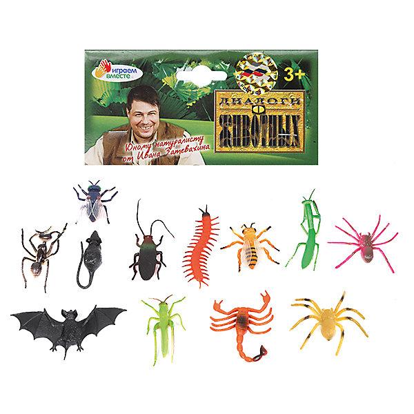 Набор из 12-и насекомых, Играем вместеИгровые фигурки животных<br>Яркий набор из двенадцати насекомых непременно порадует юного зоолога.<br><br>Дополнительная информация:<br><br>- Возраст: от 1 года.<br>- Кол-во насекомых:12 шт.<br>- Материал: пластик, силикон.<br>- Размер упаковки: 3х14х17 см.<br>- Вес в упаковке: 100 г.<br><br>Купить набор из 12-ти насекомых Играем вместе можно в нашем магазине.<br>Ширина мм: 30; Глубина мм: 140; Высота мм: 170; Вес г: 100; Возраст от месяцев: 12; Возраст до месяцев: 48; Пол: Унисекс; Возраст: Детский; SKU: 4891768;