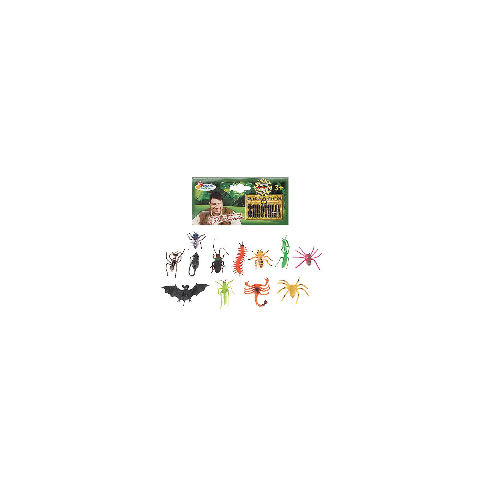 Набор из 12-и насекомых, Играем вместеЯркий набор из двенадцати насекомых непременно порадует юного зоолога.<br><br>Дополнительная информация:<br><br>- Возраст: от 1 года.<br>- Кол-во насекомых:12 шт.<br>- Материал: пластик, силикон.<br>- Размер упаковки: 3х14х17 см.<br>- Вес в упаковке: 100 г.<br><br>Купить набор из 12-ти насекомых Играем вместе можно в нашем магазине.<br><br>Ширина мм: 30<br>Глубина мм: 140<br>Высота мм: 170<br>Вес г: 100<br>Возраст от месяцев: 12<br>Возраст до месяцев: 48<br>Пол: Унисекс<br>Возраст: Детский<br>SKU: 4891768