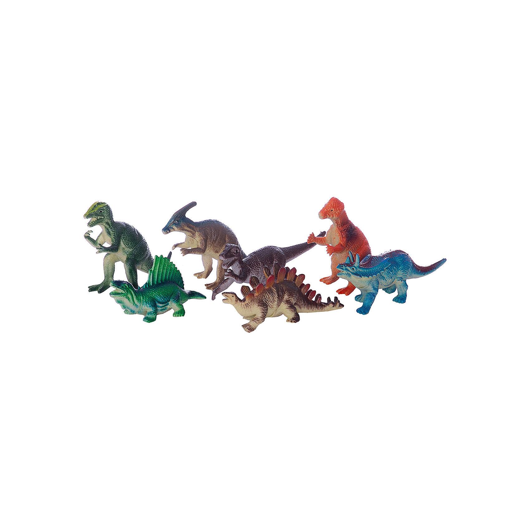 Набор из 7-и динозавров, 12,5см, Играем вместеДраконы и динозавры<br>Яркий набор из семи динозавров непременно порадует юного любителя животных!<br><br>Дополнительная информация:<br><br>- Возраст: от 1 года.<br>- Размер динозавра: 12,5 см.<br>- Кол-во динозавров: 7 шт.<br>- Материал: пластик, силикон.<br>- Размер упаковки: 4х25х18 см.<br>- Вес в упаковке: 190 г.<br><br>Купить набор из семи динозавров Играем вместе можно в нашем магазине.<br><br>Ширина мм: 110<br>Глубина мм: 300<br>Высота мм: 270<br>Вес г: 250<br>Возраст от месяцев: 12<br>Возраст до месяцев: 48<br>Пол: Унисекс<br>Возраст: Детский<br>SKU: 4891770