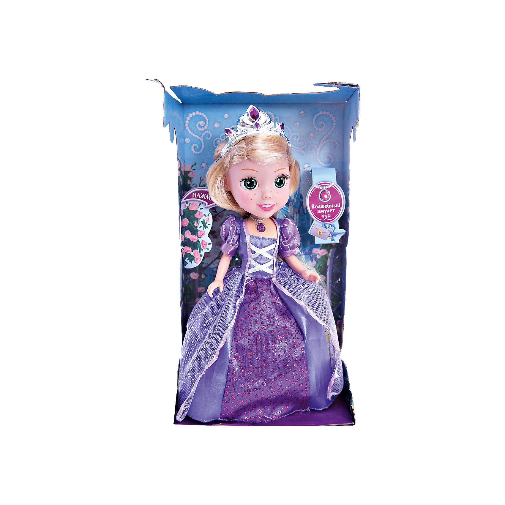 Кукла Рапунцель со светящимся амулетом, 25см, со звуком, Принцессы Дисней, КарапузПрекрасная Рапунцель бесспорно понравиться Вашей принцессе! А когда малышка узнает, что кукла еще и умеет разговаривать и даже петь песни, то счастью не будет предела!<br><br>Дополнительная информация:<br><br>- Возраст: от 3 лет.<br>- Высота куклы: 25 см.<br>- В комплекте: кукла, диадема, кулон, туфельки.<br>- Тип батареек: 3 х AG3 / LR41 (таблетки).<br>- Материал: пластик, текстиль.<br>- Размер упаковки: 9х29х16 см.<br>- Вес в упаковке: 380 г.<br><br>Купить куклу Рапунцель со светящимся амулетом можно в нашем магазине.<br><br>Ширина мм: 90<br>Глубина мм: 290<br>Высота мм: 160<br>Вес г: 380<br>Возраст от месяцев: 36<br>Возраст до месяцев: 84<br>Пол: Женский<br>Возраст: Детский<br>SKU: 4891775