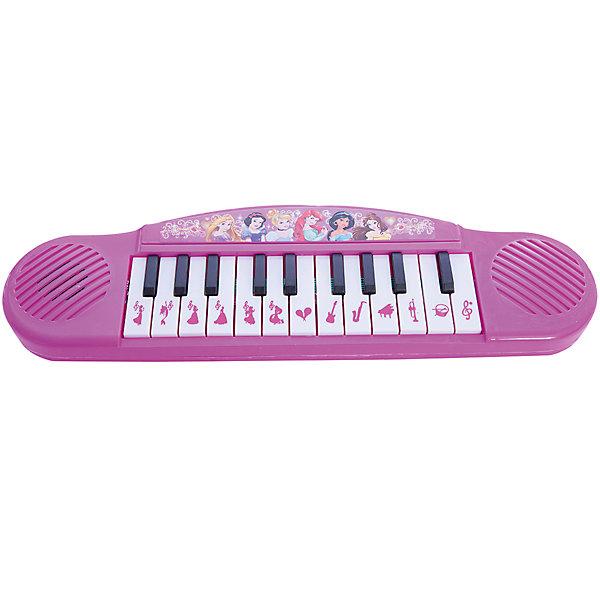 Пианино Принцессы (6 песен, 13 клавиш), УмкаИгрушки<br>Такой чудесный игрушечный синтезатор поможет малышке проявить свои самые первые творческие способности в музыке!<br>Синтезатор поспособствует развитию слуха, мелкой моторике рук. Так же, он очень компактный, поэтому его удобно носить с собой везде.<br><br>Дополнительная информация:<br><br>- Возраст: от 1 года.<br>- Базовых 6 песен.<br>- Цвет: розовый.<br>- Работает на батарейках.<br>- Материал: пластик, металл.<br>- Размер упаковки: 4х10х32 см.<br>- Вес в упаковке: 200 г.<br><br>Купить пианино Принцессы можно в нашем магазине.<br><br>Ширина мм: 40<br>Глубина мм: 100<br>Высота мм: 320<br>Вес г: 200<br>Возраст от месяцев: 12<br>Возраст до месяцев: 48<br>Пол: Женский<br>Возраст: Детский<br>SKU: 4891777
