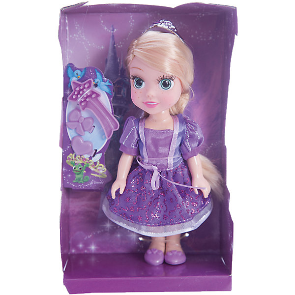 Кукла Рапунцель, 15см, с аксессуарами, со звуком, Принцессы Дисней, КарапузПринцессы Дисней<br>Милая маленькая Рапунцель сразу же понравиться Вашей девочке!<br>А когда малышка узнает, что кукла еще и умеет разговаривать и даже петь песни, то счастью не будет предела!<br><br>Дополнительная информация:<br><br>- Возраст: от 3 лет.<br>- Высота куклы: 15 см.<br>- Комплект: кукла, диадема, кулон, расчёска, туфельки.<br>- Тип батареек: 3 х AG3 / LR41 (таблетки).<br>- Материал: пластик, текстиль.<br>- Размер упаковки: 6х12х19 см.<br>- Вес в упаковке: 180 г.<br><br>Купить куклу Рапунцель можно в нашем магазине.<br><br>Ширина мм: 60<br>Глубина мм: 120<br>Высота мм: 190<br>Вес г: 180<br>Возраст от месяцев: 36<br>Возраст до месяцев: 84<br>Пол: Женский<br>Возраст: Детский<br>SKU: 4891784