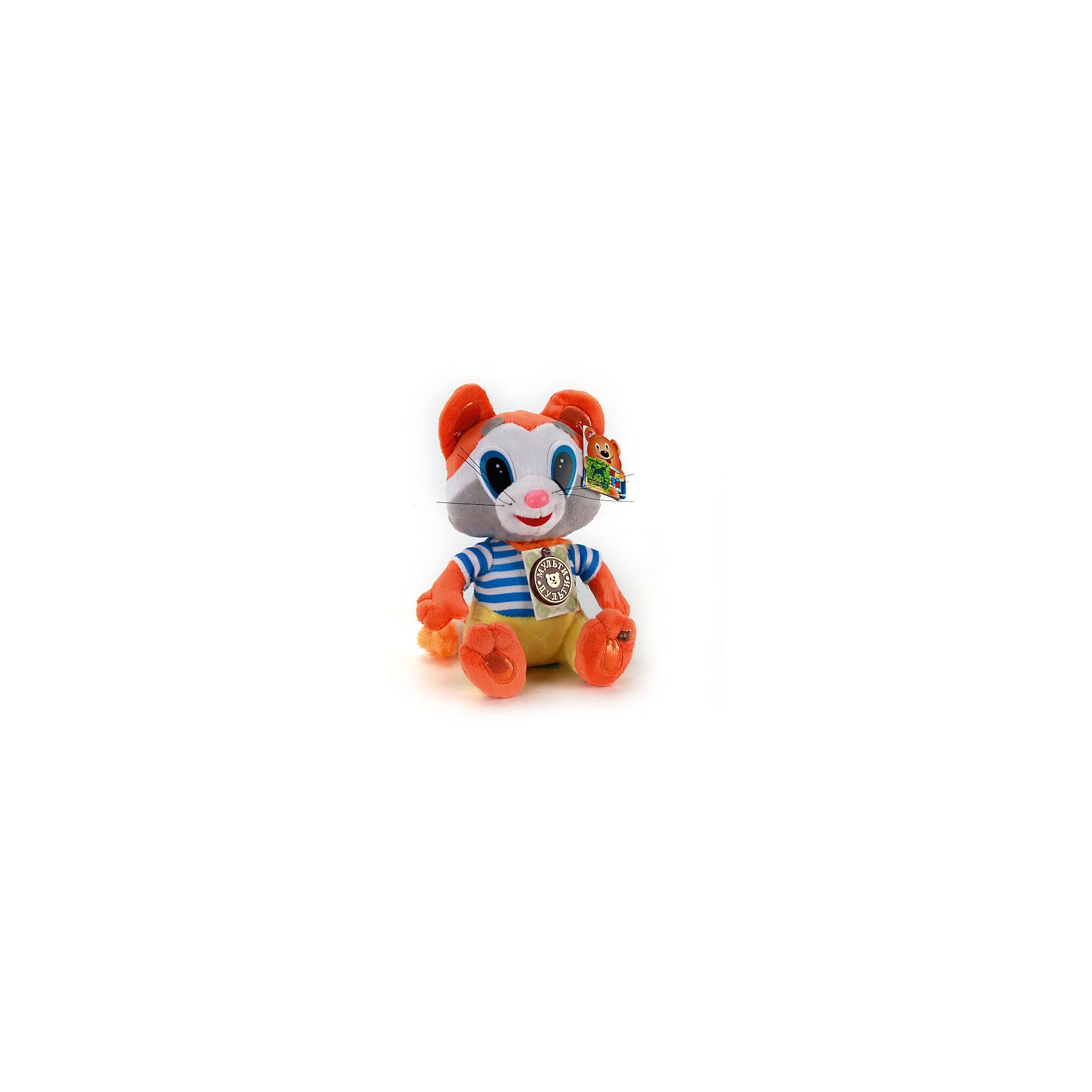 МУЛЬТИ-ПУЛЬТИ Мягкая игрушка Крошка енот, 18см, со звуком, Мульти-пульти мульти пульти мягкая игрушка эдди 18 см со звуком пингвиненок пороро мульти пульти