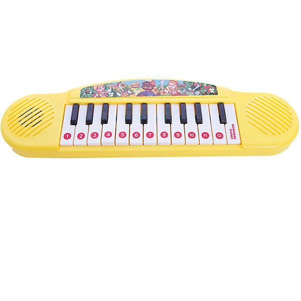 Пианино С потешками (12 русских народных потешек), УмкаПианино<br>Такое чудесное игрушечное пианино поможет малышке проявить свои самые первые творческие способности в музыке!<br>Пианино поспособствует развитию слуха, мелкой моторике рук. Так же, он очень компактный, поэтому его удобно носить с собой везде.<br><br>Дополнительная информация:<br><br>- Возраст: от 1 года.<br>- Базовых 12 русских народных потешек.<br>- Цвет: желтый.<br>- Работает на батарейках.<br>- Материал: пластик, металл.<br>- Размер упаковки: 4х10х32 см.<br>- Вес в упаковке: 200 г.<br><br>Купить пианино С потешками (12 русских народных потешек) можно в нашем магазине.<br>Ширина мм: 40; Глубина мм: 100; Высота мм: 320; Вес г: 200; Возраст от месяцев: 12; Возраст до месяцев: 48; Пол: Унисекс; Возраст: Детский; SKU: 4891790;