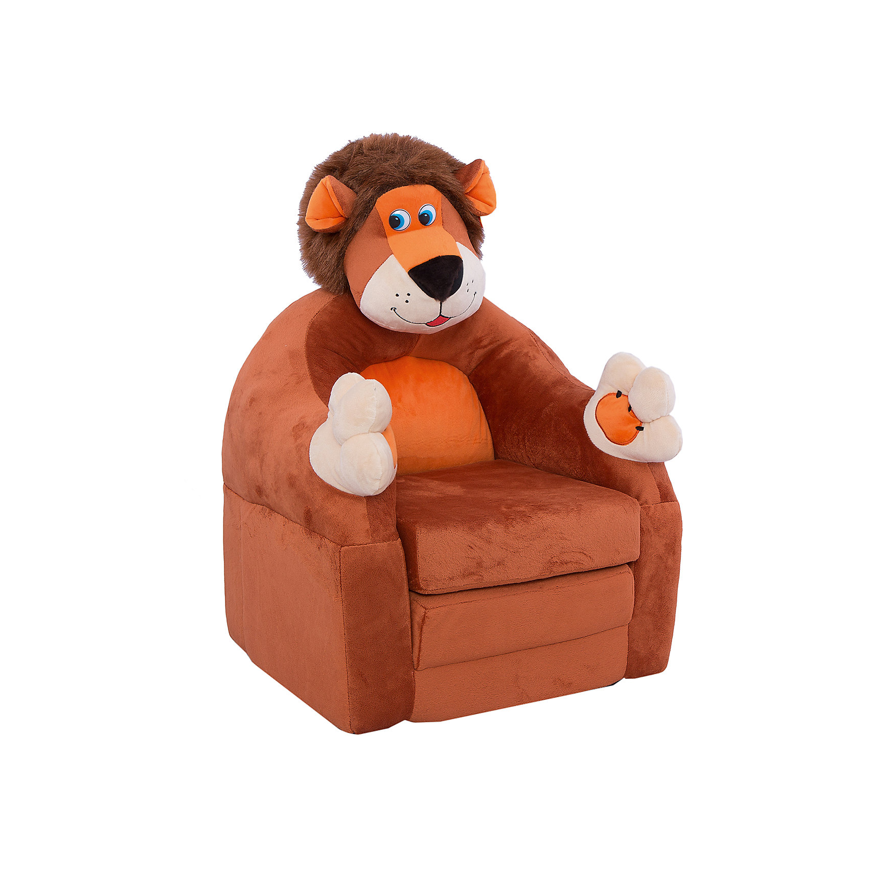 Раскладывающееся кресло-игрушка Лев<br><br>Ширина мм: 630<br>Глубина мм: 360<br>Высота мм: 440<br>Вес г: 2160<br>Возраст от месяцев: 36<br>Возраст до месяцев: 2147483647<br>Пол: Унисекс<br>Возраст: Детский<br>SKU: 4891844