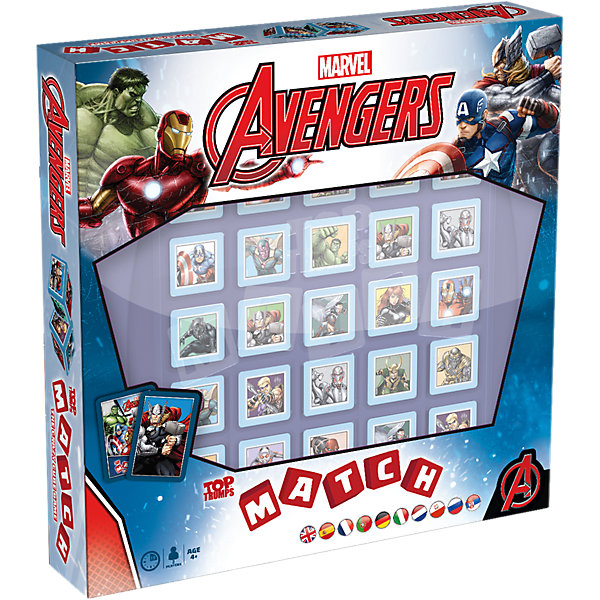 Настольная игра Марвел Мстители Top TrumpНастольные игры для всей семьи<br>Все дети любят во что-то играть. Особенно в каких-нибудь великих героев. А что может быть круче, чем герои? Только супергерои! Мы предлагаем непоседам поиграть любимыми героями Марвел: Железным человеком, Капитаном Америкой, Тором, Халком и другими!Это классическая настольная игра, которая подходит даже самым юным супергероями. Очень яркая и красочная, она позволит малышам окунуться в мир любимых комиксов и классно провести время!Правила очень просты: есть 25 безопасных для ребёнка пластмассовых кубиков (гипоаллергенный пластик, сглаженные углы). Задача игрока – собрать в один ряд пять кубиков с одним и тем же героем, после чего он станет победителем!Игра помогает развить логическое мышление, память и даже мелкую моторику. И, конечно, ребёнок получит массу позитива и радостных эмоций!В комплект игры входят:Игровое поле;Карточки с героями;Пластмассовые кубики;Инструкция.<br>Ширина мм: 271; Глубина мм: 274; Высота мм: 55; Вес г: 1093; Возраст от месяцев: 48; Возраст до месяцев: 120; Пол: Мужской; Возраст: Детский; SKU: 4892957;