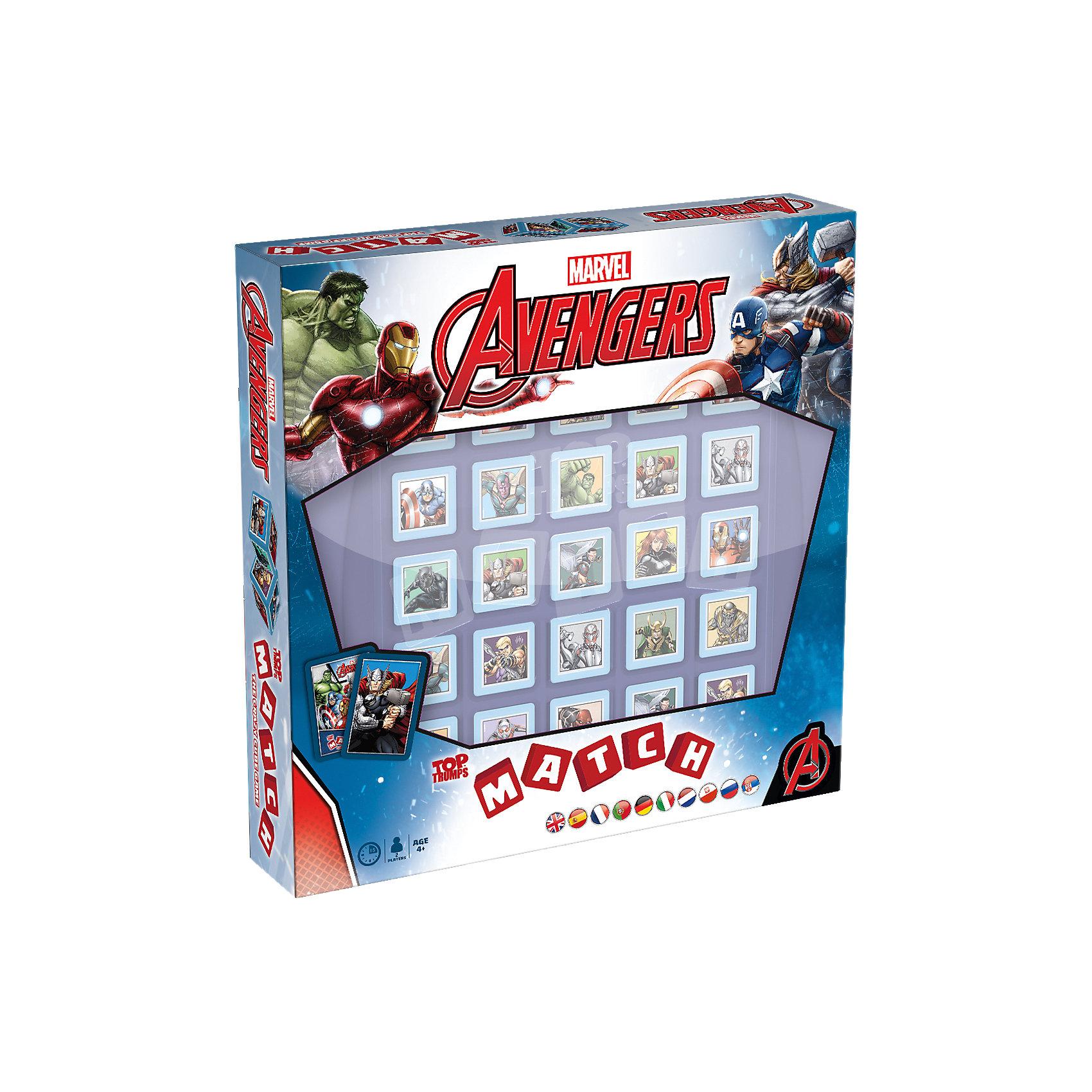 Настольная игра Марвел Мстители Top TrumpНастольные игры для всей семьи<br>Все дети любят во что-то играть. Особенно в каких-нибудь великих героев. А что может быть круче, чем герои? Только супергерои! Мы предлагаем непоседам поиграть любимыми героями Марвел: Железным человеком, Капитаном Америкой, Тором, Халком и другими!Это классическая настольная игра, которая подходит даже самым юным супергероями. Очень яркая и красочная, она позволит малышам окунуться в мир любимых комиксов и классно провести время!Правила очень просты: есть 25 безопасных для ребёнка пластмассовых кубиков (гипоаллергенный пластик, сглаженные углы). Задача игрока – собрать в один ряд пять кубиков с одним и тем же героем, после чего он станет победителем!Игра помогает развить логическое мышление, память и даже мелкую моторику. И, конечно, ребёнок получит массу позитива и радостных эмоций!В комплект игры входят:Игровое поле;Карточки с героями;Пластмассовые кубики;Инструкция.<br><br>Ширина мм: 275<br>Глубина мм: 271<br>Высота мм: 55<br>Вес г: 1099<br>Возраст от месяцев: 48<br>Возраст до месяцев: 120<br>Пол: Мужской<br>Возраст: Детский<br>SKU: 4892957