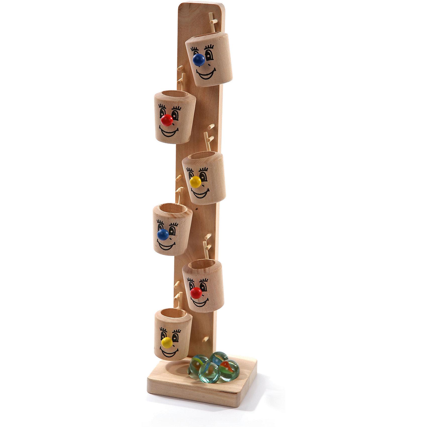Ведрышки №1, Мир деревянных игрушекВедрышки №1 – игрушка для детей и их родителей!<br>Игрушка поможет отвлечь ребенка от слез благодаря красочным и забавным мордочкам на самих ведрышках. В комплект входит 4 шарика, каждый из которых опускается в верхнее ведерко. Шарик проделает веселый путь через все ведрышки. Игрушка изготовлена из натурального дерева и подойдет детям от 3 лет.<br><br>Дополнительная информация:<br>- размер: 60х60х285<br>- вес: 251г<br>- материал: дерево<br>- возраст: от 3 лет<br><br>Ведрышки №1 можно купить в нашем интернет-магазине.<br><br>Ширина мм: 60<br>Глубина мм: 60<br>Высота мм: 285<br>Вес г: 251<br>Возраст от месяцев: 36<br>Возраст до месяцев: 2147483647<br>Пол: Унисекс<br>Возраст: Детский<br>SKU: 4895862