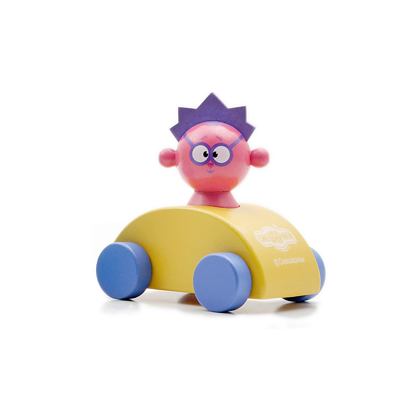 Машинка  Ёжика, Мир деревянных игрушекДеревянные игрушки<br>Машинка Ёжика – играть с любимыми героями еще интереснее!<br>Герой Смешариков Ежик на яркой желтой машине, сделанной из натурального дерева, сможет разнообразить любую игру. Игрушка, благодаря качественному материалу и безопасному закруглению всех углов, подойдет для самых маленьких от года и старше.<br><br>Дополнительная информация:<br>- размер машинки: 12 х 12 х 7 см<br>- размер фигурки: 5 см<br>- вес: 222г<br>- материал: дерево<br>- возраст: от 12 месяцев<br><br>Машинку Ёжика можно купить в нашем интернет-магазине.<br><br>Ширина мм: 100<br>Глубина мм: 70<br>Высота мм: 100<br>Вес г: 222<br>Возраст от месяцев: 36<br>Возраст до месяцев: 2147483647<br>Пол: Унисекс<br>Возраст: Детский<br>SKU: 4895865
