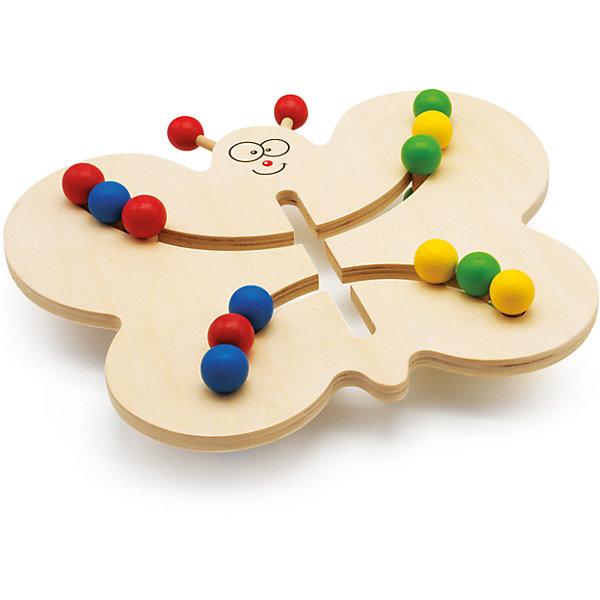 Лабиринт-Бабочка, Мир деревянных игрушекМДИ (Мир деревянных игрушек)<br>Лабиринт-Бабочка – три в одном: развитие моторики, изучение цветов и просто веселая забава!<br>Игрушка выполнена из натурального дерева, что делает игрушку полностью безопасной для малыша. Шарики на игрушке ярких цветов: красного, синего, зеленого и желтого. Ребенок может фантазировать и распределять цвета в любом порядке или выполнять ваши задания.<br><br>Дополнительная информация:<br>- размер: 175х40х110<br>- вес: 966г<br>- материал: дерево <br>- возраст: от 3 лет<br><br>Лабиринт-Бабочку можно купить в нашем интернет-магазине.<br>Ширина мм: 175; Глубина мм: 40; Высота мм: 110; Вес г: 966; Возраст от месяцев: 36; Возраст до месяцев: 2147483647; Пол: Унисекс; Возраст: Детский; SKU: 4895870;