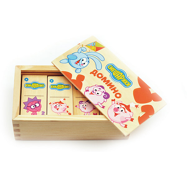 Домино Смешарики, Мир деревянных игрушекСпортивные настольные игры<br>Домино Смешарики – игра из детства с современными героями!<br>Домино – это не только интересный досуг, но и развивающая игра для самых маленьких. Благодаря качественной натуральной древесине игра безопасна для детей любого возраста. Яркие цветные картинки не тускнеют и будут радовать долгое время. Костяшки с героями Смешариков запакованы в удобный деревянный ящик с такими же красивыми картинками. <br><br>Дополнительная информация:<br>- размер: 140х80х50<br>- вес: 249г<br>- материал: дерево <br>- возраст: от 3 лет<br><br>Домино Смешарики можно купить в нашем интернет-магазине.<br><br>Ширина мм: 140<br>Глубина мм: 80<br>Высота мм: 50<br>Вес г: 249<br>Возраст от месяцев: 36<br>Возраст до месяцев: 2147483647<br>Пол: Унисекс<br>Возраст: Детский<br>SKU: 4895872