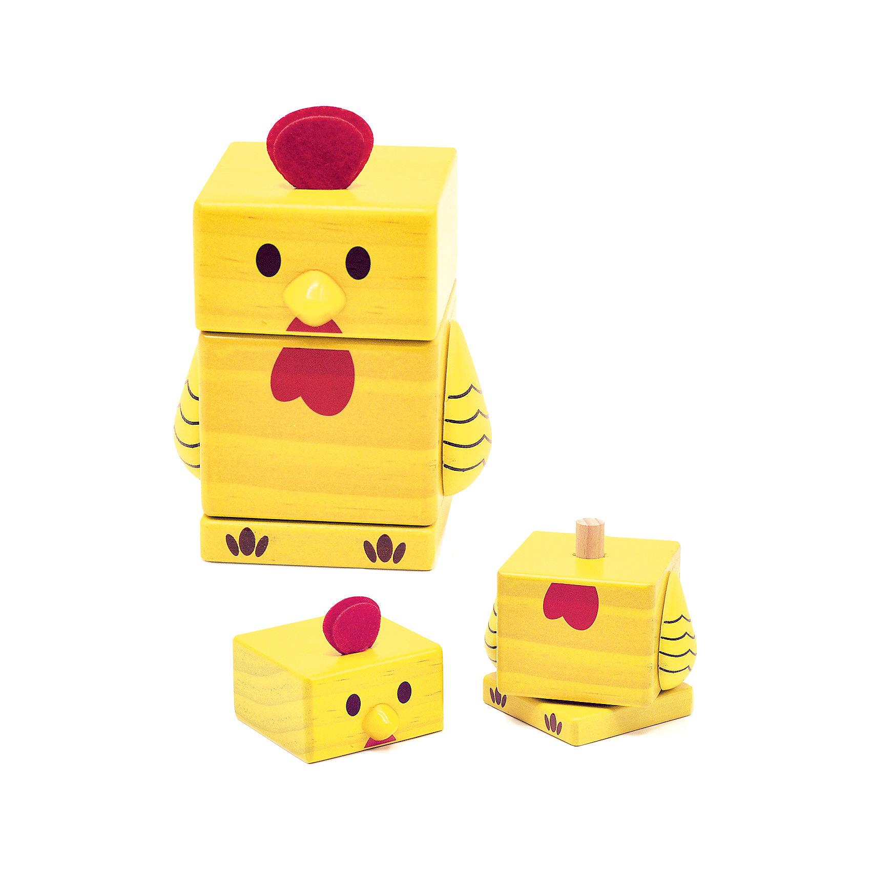 Пирамидка Цыпленок, Мир деревянных игрушекПирамидки<br>Пирамидка Цыпленок – яркая красочная игрушка для вашего малыша.<br>Данная модель состоит из двух частей и основания. Ярко-желтый цыпленок изготовлен из натуральной хорошо отшлифованной древесины, которая полностью безопасна для ребенка. Краска не стирается со временем, не тускнеет и не блекнет. Пирамидка легко нанизывается, поэтому не вызывает сложностей даже у самых маленьких.<br>Дополнительная информация:<br>- размер: 95х70х185<br>- вес: 200г<br>- материал: дерево <br>- возраст: от 3 лет<br><br>Пирамидку Цыпленок можно купить в нашем интернет-магазине.<br><br>Ширина мм: 95<br>Глубина мм: 70<br>Высота мм: 185<br>Вес г: 200<br>Возраст от месяцев: 36<br>Возраст до месяцев: 2147483647<br>Пол: Унисекс<br>Возраст: Детский<br>SKU: 4895888