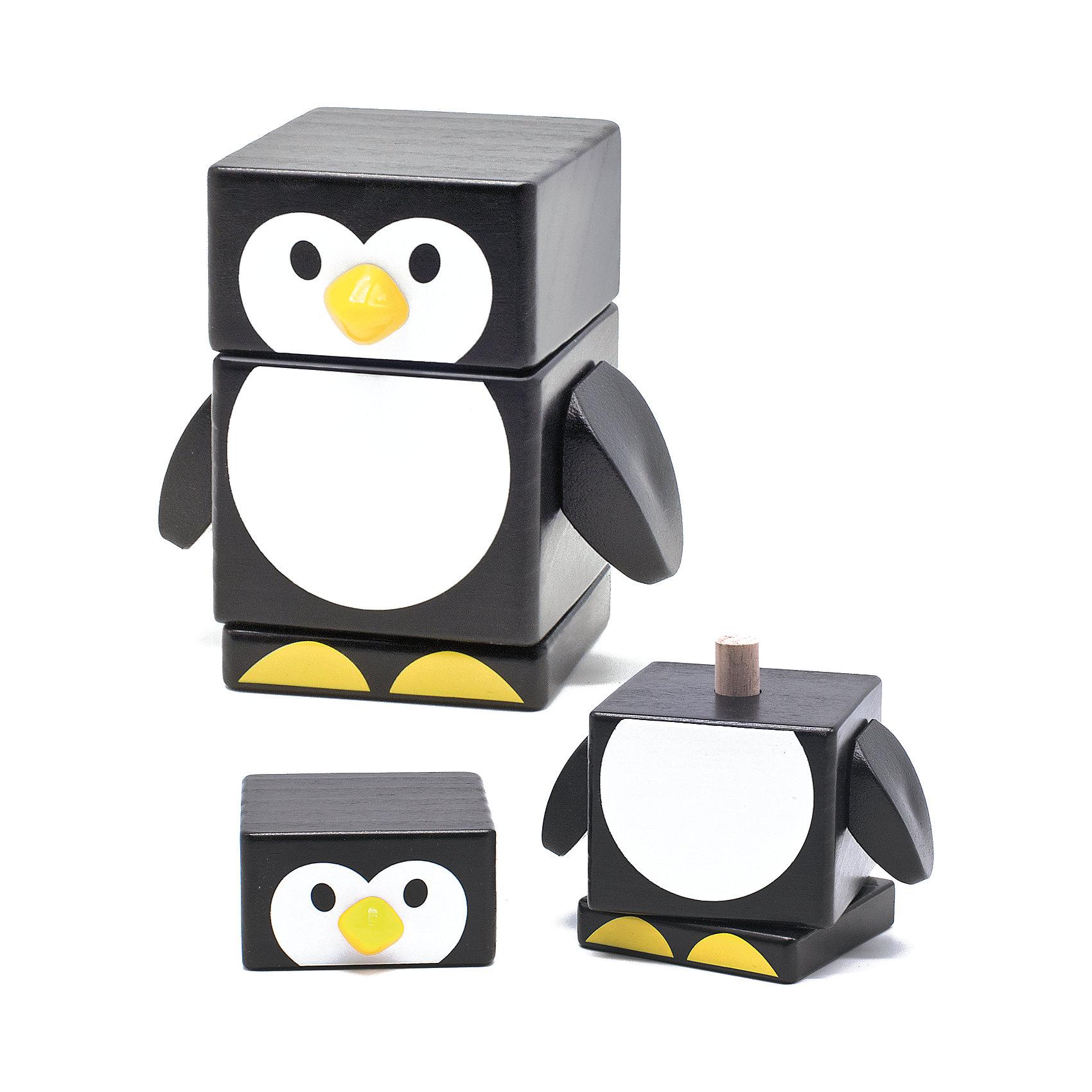 МДИ Пирамидка Пингвин, Мир деревянных игрушек мягкая игрушка пингвин tux купить