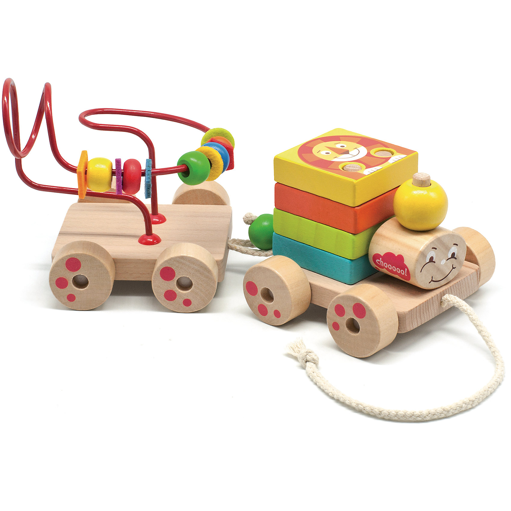 Паровозик Чух-Чух, Мир деревянных игрушекИгрушки для малышей<br>Паровозик Чух-Чух – не просто игрушка, а развивающий комплекс!<br>Игрушка состоит из паровозика с веревочкой, который хорошо катается. Вагончики паровозика не простые. Первый вагончик – это пирамидка с разными штырьками: для кружочков и для прямоугольных пластин. Пластины разных цветов, с красивыми яркими рисунками животных. Второй вагончик – это лабиринт, который поможет ребенку развить мелкую моторику рук и логику. Паровозик изготовлен из качественной натуральной древесины и полностью безопасен для ребенка.<br>Дополнительная информация:<br>- размер: 300х65х175<br>- вес: 800г<br>- материал: дерево <br>- возраст: от 3 лет<br><br>Паровозик Чух-Чух можно купить в нашем интернет-магазине.<br><br>Ширина мм: 300<br>Глубина мм: 65<br>Высота мм: 175<br>Вес г: 800<br>Возраст от месяцев: 36<br>Возраст до месяцев: 2147483647<br>Пол: Унисекс<br>Возраст: Детский<br>SKU: 4895891