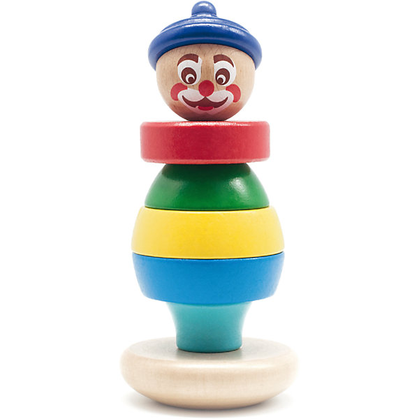 Клоун пирамидка 2, Мир деревянных игрушекДеревянные игрушки<br>Клоун пирамидка 2 – красивое, яркое пособие, дающее волю фантазии.<br>Пирамидка состоит из 7 частей разных цветов. Верхушка пирамидки – веселый улыбающийся клоун. Пирамидку можно собирать абсолютно по-разному, делая наряд клоуну по своему желанию. Изделие изготовлено из натурального хорошо отшлифованного дерева, что делает пирамидку безопасной для использования детьми.<br>Дополнительная информация:<br>- размер: 100х75х190<br>- вес: 200г<br>- материал: дерево <br>- возраст: от 3 лет<br><br>Клоун пирамидка 2 можно купить в нашем интернет-магазине.<br><br>Ширина мм: 100<br>Глубина мм: 75<br>Высота мм: 190<br>Вес г: 200<br>Возраст от месяцев: 36<br>Возраст до месяцев: 2147483647<br>Пол: Унисекс<br>Возраст: Детский<br>SKU: 4895892