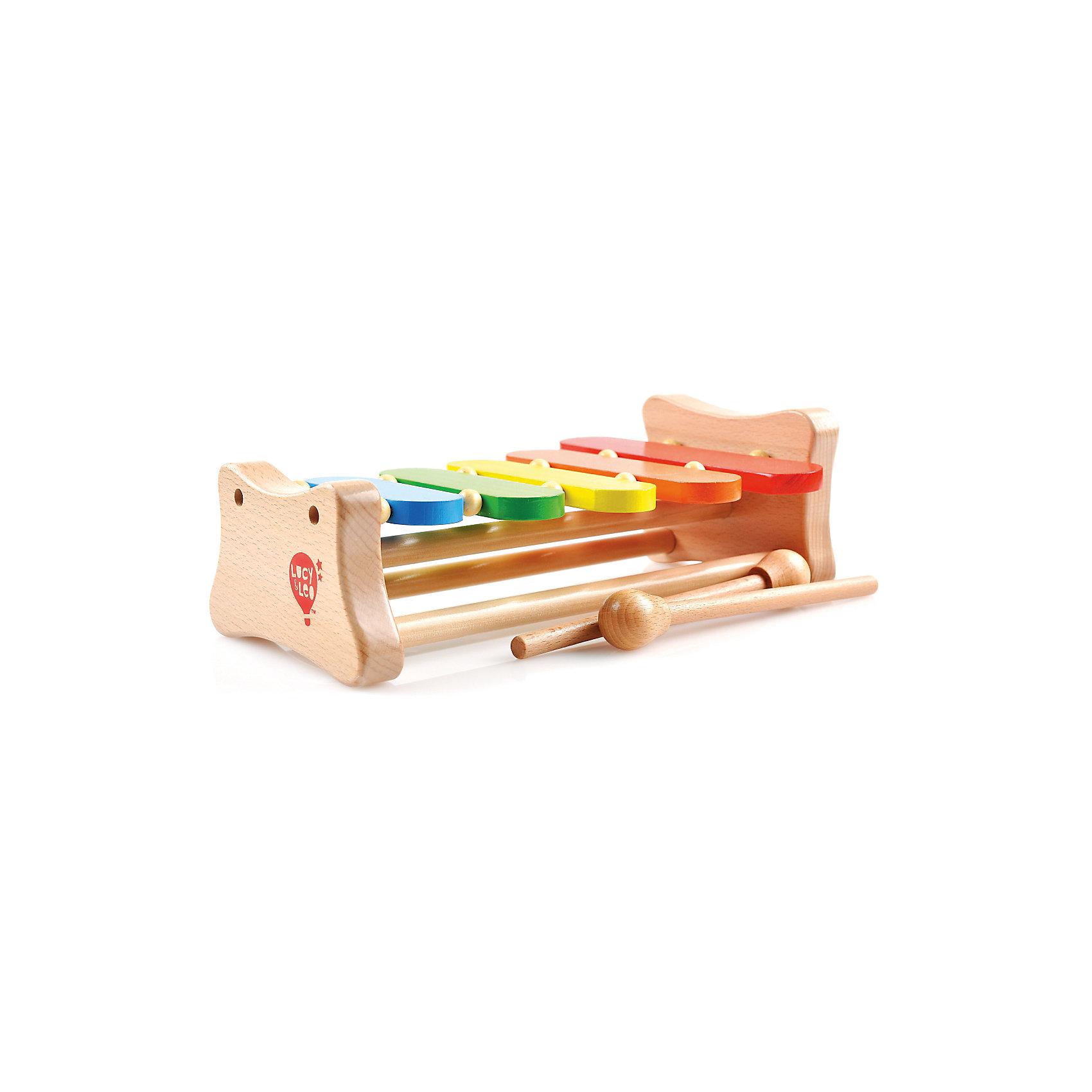 Ксилофон (5тонов), Мир деревянных игрушекКсилофон (5тонов) – легкий инструмент для маленьких музыкантов.<br>В комплект входят красивый, красочный ксилофон с пятью клавишами и 2 маленьких, но очень удобных молоточка. Инструмент легок в использовании, поэтому его можно купить даже самым маленьким детям. Изготовлен он из натуральной древесины и метала. Ксилофон развивает музыкальный слух, а благодаря ярким клавишам с ним легко учить цвета.<br>Дополнительная информация:<br>- размер: 295х185х105<br>- вес: 725г<br>- материал: дерево и металл<br>- возраст: от 3 лет<br><br>Ксилофон (5тонов) можно купить в нашем интернет-магазине.<br><br>Ширина мм: 295<br>Глубина мм: 185<br>Высота мм: 105<br>Вес г: 725<br>Возраст от месяцев: 36<br>Возраст до месяцев: 2147483647<br>Пол: Унисекс<br>Возраст: Детский<br>SKU: 4895893