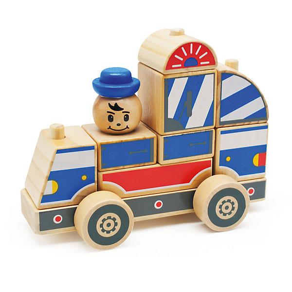 Автомобиль-конструктор 1, Мир деревянных игрушекДеревянные конструкторы<br>Этот яркий автомобильчик придется по вкусу всем юным автолюбителям! Секрет его в том, что он состоит из отдельных кубиков и деталей. Ребенку будет интересно самому собрать оригинальную машинку и потом весело играть с ней. Надо лишь надеть нужные детали на деревянные штырьки на платформе с колесами - и машинка готова! <br>Все детали автомобиля выполнены из натурального дерева, раскрашены гипоаллергенными нетоксичными красителями, не имеют острых углов, прекрасно обработаны - абсолютно безопасны для детей. <br>Игры с конструктором развивают у малышей моторику рук, внимание, пространственного воображение и фантазию. <br><br>Дополнительная информация:<br><br>- Возраст: от 3-х лет.<br>- Материал: дерево. <br>- Количество деталей: 15.<br>- Размер игрушки: 17 см. <br><br>Автомобиль-конструктор 1 можно купить в нашем магазине.<br><br>Ширина мм: 180<br>Глубина мм: 90<br>Высота мм: 145<br>Вес г: 444<br>Возраст от месяцев: 36<br>Возраст до месяцев: 2147483647<br>Пол: Унисекс<br>Возраст: Детский<br>SKU: 4895899