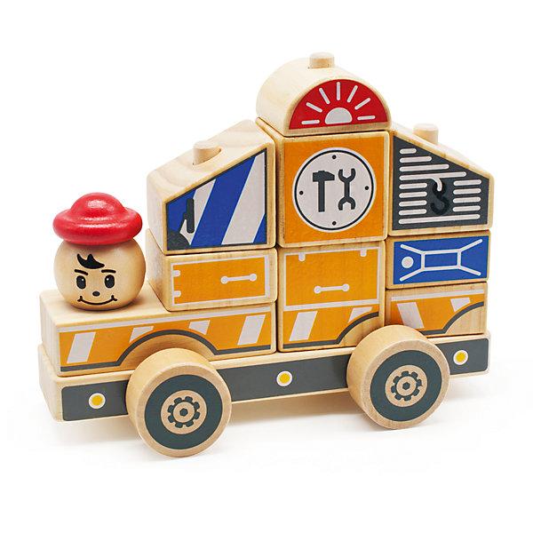 Автомобиль-конструктор 3, Мир деревянных игрушекДеревянные конструкторы<br>Этот яркий автомобильчик придется по вкусу всем юным автолюбителям! Секрет его в том, что он состоит из отдельных кубиков и деталей. Ребенку будет интересно самому собрать оригинальную машинку и потом весело играть с ней. Надо лишь надеть нужные детали на деревянные штырьки на платформе с колесами - и машинка готова! <br>Все детали автомобиля выполнены из натурального дерева, раскрашены гипоаллергенными нетоксичными красителями, не имеют острых углов, прекрасно обработаны - абсолютно безопасны для детей. <br>Игры с конструктором развивают у малышей моторику рук, внимание, пространственного воображение и фантазию. <br><br>Дополнительная информация:<br><br>- Возраст: от 3-х лет.<br>- Материал: дерево. <br>- Размер игрушки: 17 см. <br>- Количество деталей: 12.<br>- Размер деталей: 2-4 см. <br><br>Автомобиль-конструктор 3 можно купить в нашем магазине.<br><br>Ширина мм: 180<br>Глубина мм: 90<br>Высота мм: 145<br>Вес г: 450<br>Возраст от месяцев: 36<br>Возраст до месяцев: 2147483647<br>Пол: Унисекс<br>Возраст: Детский<br>SKU: 4895901