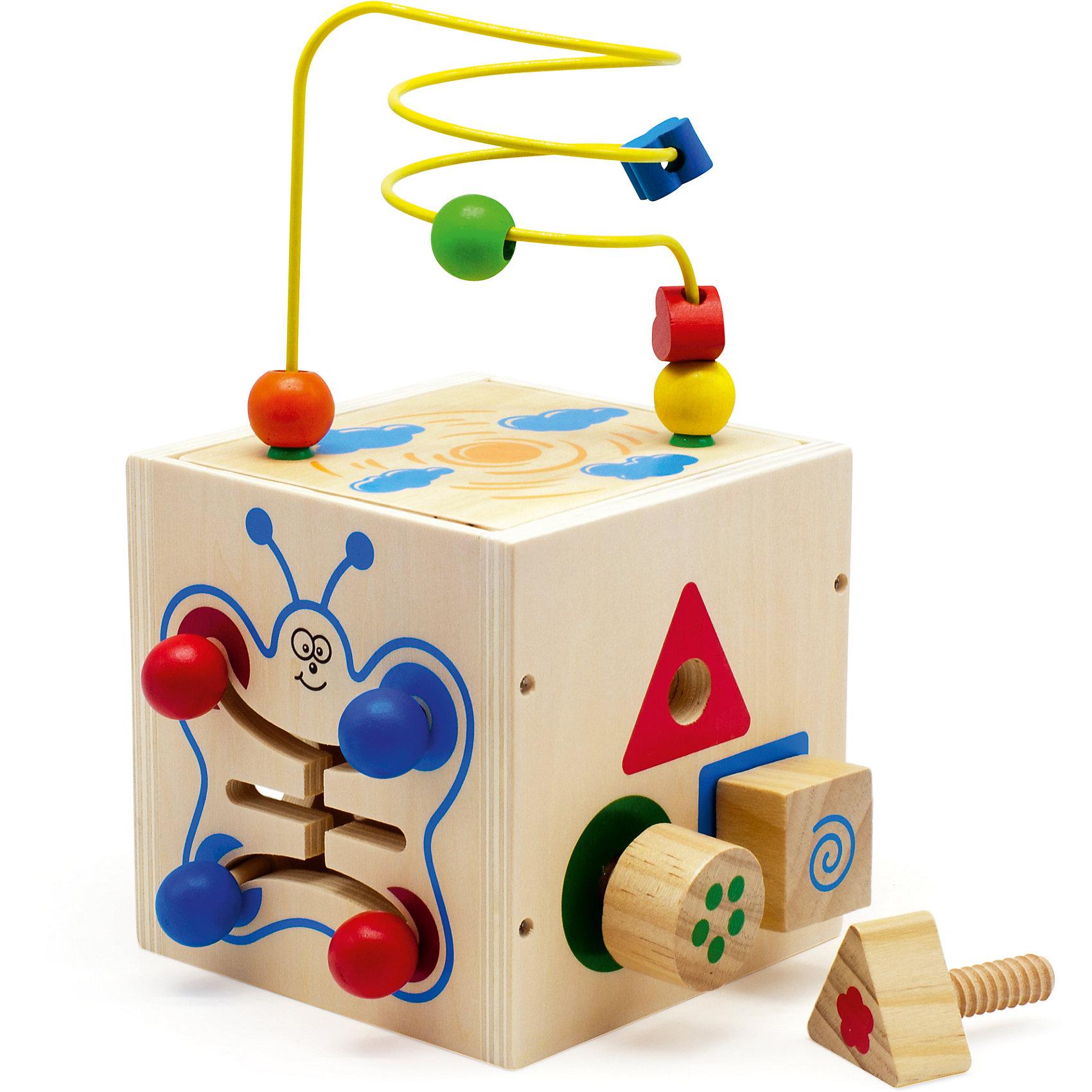 Куб-лабиринт 5 в 1, Мир деревянных игрушек