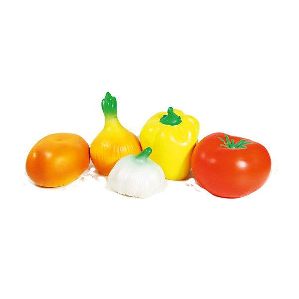 Набор Овощи, КудесникиИгрушечные продукты питания<br><br>Ширина мм: 200; Глубина мм: 200; Высота мм: 95; Вес г: 225; Возраст от месяцев: 12; Возраст до месяцев: 36; Пол: Унисекс; Возраст: Детский; SKU: 4896450;