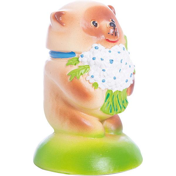 Мишка с букетом, КудесникиРезиновые игрушки<br>Мишка с букетом, Кудесники<br><br>Характеристики:<br><br>• Материал: ПВХ.<br>• Размер: 4 х6х13,5 см.<br><br>Отличная игрушка из мягкого ПВХ надолго займет внимание вашего малыша. Эта игрушка поможет малышу при прорезывании зубов, поможет развивать моторику рук, знакомить с формой, цветом, образами также с ней можно забавно поиграть в ванной. Яркий образ нежного забавного медвежонка поможет ребенку придумывать различные сюжетно-ролевые игры.<br><br>Мишку с букетом, Кудесники, можно купить в нашем интернет – магазине.<br>Ширина мм: 40; Глубина мм: 60; Высота мм: 135; Вес г: 120; Возраст от месяцев: 12; Возраст до месяцев: 36; Пол: Унисекс; Возраст: Детский; SKU: 4896475;
