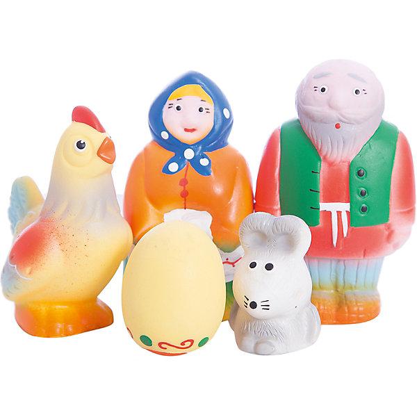 Набор Курочка Ряба и золотое яичко, КудесникиИгрушки<br>Набор Курочка Ряба и золотое яичко, Кудесники<br><br>Характеристики:<br><br>• Материал: ПВХ.<br>• Размер упаковки: 22х22х11,5 см.<br>• Вес: 170г.<br>• В набор входят: Дед, Бабка, курица, яичко, мышка.<br> <br>Набор Курочка Ряба и золотое яичко, Кудесники – это отличный игровой набор из мягкого пластизоля. Эти игрушки помогут малышу при прорезывании зубов, помогут развивать моторику рук, знакомить с формой, цветом, образами. Также с ними можно забавно поиграть в ванной. Яркие образы помогут ребенку проигрывать сюжет любимой сказки, а также придумывать различные сюжетно-ролевые игры.<br><br>Набор Курочка Ряба и золотое яичко, Кудесники, можно купить в нашем интернет – магазине.<br>Ширина мм: 220; Глубина мм: 220; Высота мм: 115; Вес г: 170; Возраст от месяцев: 12; Возраст до месяцев: 36; Пол: Унисекс; Возраст: Детский; SKU: 4896477;