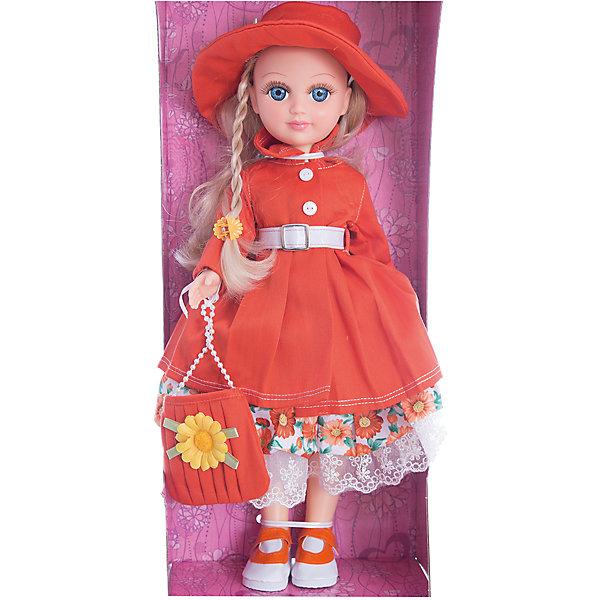 Кукла Анастасия - Осень, со звуком, ВеснаКуклы<br>Характеристики:<br><br>• возраст: от 3 лет;<br>• тип игрушки: кукла;<br>• размер: 51x21x29 см;<br>• высота: 42 см;<br>• материал: текстиль, пластик;<br>• бренд: Весна;<br>• особенности: говорящая;<br>• страна производитель: Россия.<br> <br>Кукла Анастасия « Осень» придется по душе каждой девочке. Сказочная куколка имеет высоту 42см и выполнена из качественных материалов, не вредных для ребенка. Игрушка подойдет для девочек от трех лет и старше. <br><br>Миловидное личико и длинные белые волосы дополнены красивым образом. Она одета в красивое теплое красное платье, а на ее очаровательной головке красуется милая шляпка того же цвета. Кукла умеет говорить - при нажатии кнопочки у нее на спине она воспроизводит от 3 до 10 различных фраз. Игрушка изготовлена из высококачественных материалов. <br><br>Куклу Анастасия « Осень» можно купить в нашем интернет-магазине.<br><br>Ширина мм: 510<br>Глубина мм: 290<br>Высота мм: 210<br>Вес г: 558<br>Возраст от месяцев: 36<br>Возраст до месяцев: 144<br>Пол: Женский<br>Возраст: Детский<br>SKU: 4896493