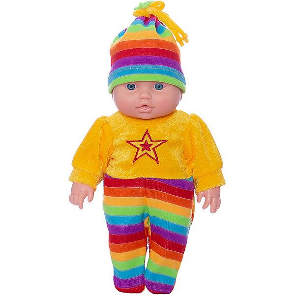 Кукла Малыш 4 (мальчик), 31 см, ВеснаКуклы<br>Характеристики:<br><br>• возраст: от 3 лет;<br>• тип игрушки: пупс;<br>• высота: 30 см;<br>• комплект: кукла, одежда;<br>• размер: 33.5x20.5x35 см;<br>• материал: текстиль, винил;<br>• бренд: Весна;<br>• страна производитель: Россия.<br><br>Кукла  Малыш 4 (мальчик) 30 см имеет анатомическую особенность, указывающую на её пол: мальчик. Максимально реалистичная игрушка порадует девочек от трех лет. Мальчик одет в шапочку и цельный костюмчик радужных цветов. У него большие глазки голубого цвета, слегка разомкнутые губки и миленький носик. Девочка с радостью будет приглядывать за ребенком — пеленать его, качать на ручках, укладывать спать и рассказывать сказки. Он выполнен из высококачественных материалов и имеет очень удобный игровой размер - 30 сантиметров.<br><br>Игрушка отлично подходит для сюжетно-ролевых игр, развивающих воображение и мелкую моторику у детей.  Тело куклы пропорционально и гармонично, дизайн учитывает телосложение, свойственное младенцам, есть симпатичные припухлости и складочки. Благодаря небольшому размеру и продуманной конструкции эту куклу легко и удобно брать в руки.<br><br>Куклу Малыш 4 (мальчик) 31 см можно купить в нашем интернет-магазине.<br>Ширина мм: 335; Глубина мм: 350; Высота мм: 205; Вес г: 460; Возраст от месяцев: 36; Возраст до месяцев: 144; Пол: Женский; Возраст: Детский; SKU: 4896499;