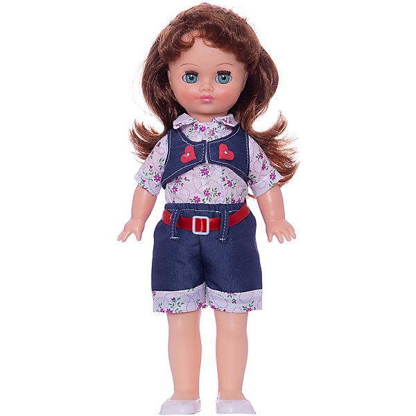 Кукла Маргарита 10, со звуком, 40 см., ВеснаКуклы<br>Характеристики:<br><br>• тип игрушки: кукла;<br>• комплектация: кукла, одежда, батарейки;<br>• возраст: от 3 лет;<br>• тип питания: батарейки (в комплекте);<br>• размер: 40 см;<br>• бренд: Весна<br>• производство: Россия;<br>• упаковка: картонная коробка блистерного типа;<br>• материал: винил, пластик, текстиль, нейлон.<br><br>Кукла по имени Маргарита 10 со звуком от российского производителя Весна – это очень миловидный малыш, который станет для ребенка не только любимой куклой, но и интересным спутником для интересных ролевых игр. Кукла выполнена в очень реалистичном стиле, по этому ребенок будет о ней заботится и ухаживать с радостью и вниманием. Ее с легкостью можно будет раздевать и одевать, собираясь на прогулку или в гости, менять её образ, создавая разнообразные новые причёски. Куколка реалистично закроет глазки, если её уложить спать и сможет поддержать беседу о музыке и танцах.<br><br>Высота Маргариты – 40 см. Ее одежда состоит из брюк, рубашки и жилета. На ножках у нее белые ботиночки. Всю одежду можно снимать и надевать обратно. Кукла выполнена с очень высокой степенью детализации. Волосы сделаны из качественного материала, по этому Маргариту можно расчесывать и делать ей разные прически. У куклы подвижные соединения, по этому она очень подвижна. Ее туловище изготовлено из пластика, а руки и лицо из винила. Благодаря звуковому модулю кукла может произносить до восьми фраз.<br><br>Кукла имеет всю требуемую сертификацию и отвечает предъявляемым нормам и требованиям ТР ТС к игрушкам. Не вызывает аллергию и не выделяет неприятные запахи при использовании. Так же стоит обратить внимание на то, что производитель оставляет за собой право изменения цветовой гаммы, фасона одежды и волос куклы, цвет глаз так же может варьироваться.<br><br>Куклу по имени Маргарита 10 со звуком можно купить в нашем интернет-магазине.<br><br>Ширина мм: 420<br>Глубина мм: 170<br>Высота мм: 100<br>Вес г: 400<br>Возраст от месяцев: 36