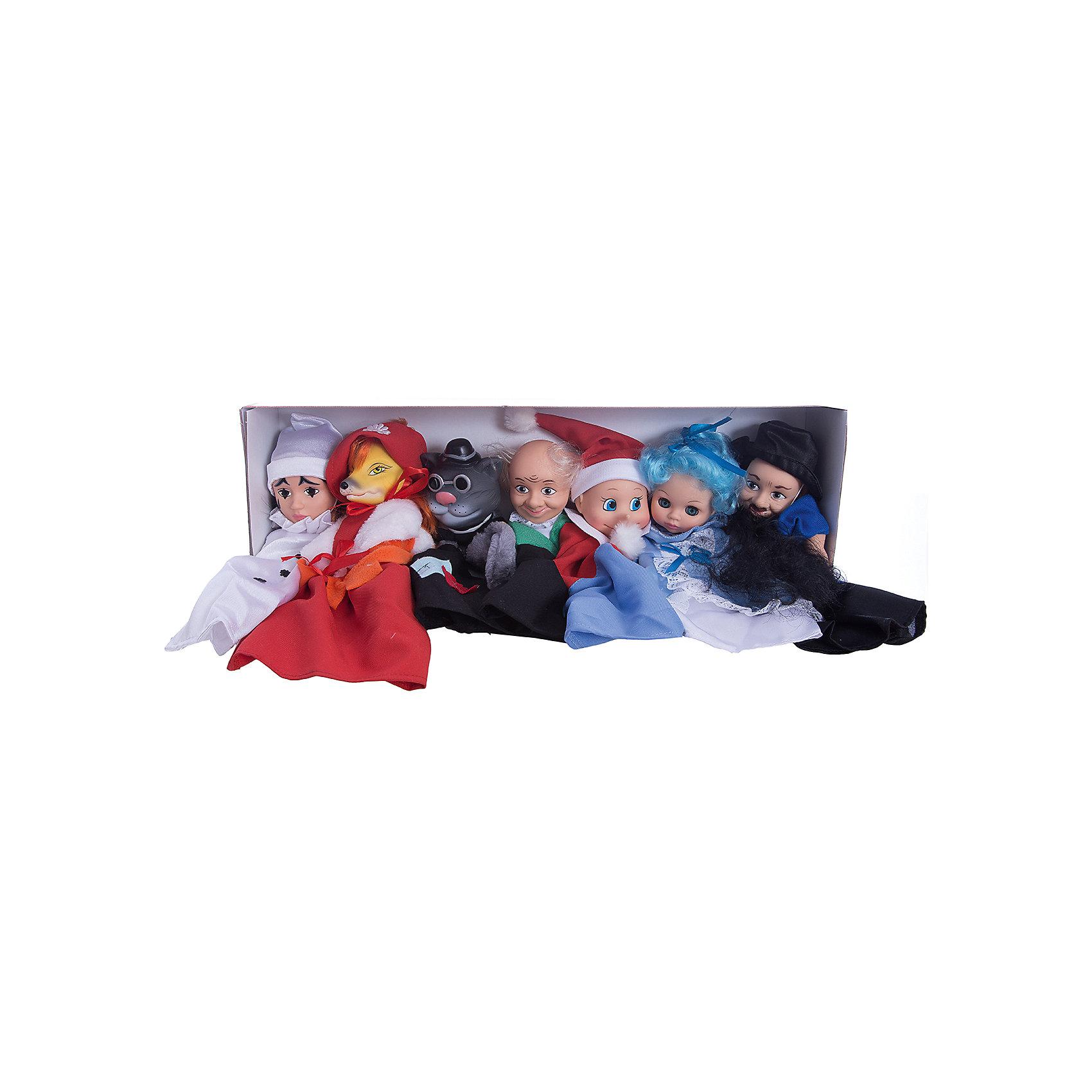Кукольный театр по сказкам №1, ВеснаМягкие игрушки на руку<br>Кукольный театр по сказкам №1, Весна<br><br>Характеристики:<br><br>• перчаточные куклы для кукольного спектакля<br>• по мотивам сказки А. Толстого Буратино<br>• в комплекте: 7 кукол<br>• материал: пластик, текстиль<br>• размер упаковки: 52,7х10,2х18,6 см<br>• вес: 1,27 кг<br><br>Набор №1 создан по мотивам всеми любимых Приключений Буратино. В комплект входят 7 перчаточных кукол, главных персонажей сказки. Наденьте их на пальце и покажите ребенку интересный спектакль. Дети постарше смогут справиться с этой задачей сами, а может даже придумают новую историю про главных героев. Это поможет развить воображение, творческие способности и память.<br><br>Кукольный театр по сказкам №1, Весна вы можете купить в нашем интернет-магазине.<br><br>Ширина мм: 430<br>Глубина мм: 350<br>Высота мм: 95<br>Вес г: 1280<br>Возраст от месяцев: 36<br>Возраст до месяцев: 144<br>Пол: Женский<br>Возраст: Детский<br>SKU: 4896503