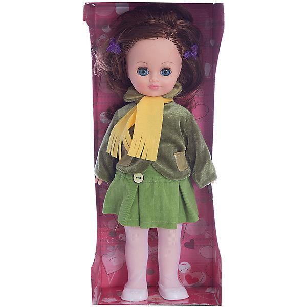 Кукла Маргарита 12, со звуком, ВеснаБренды кукол<br>Кукла Маргарита 12, со звуком, Весна.<br><br>Характеристики:<br><br>- Рост куклы: 38 см.<br>- Материал: голова и руки – винил, ноги и туловище- пластик<br>- Глаза вставные закрывающиеся<br>- Волосы: прошитые из нейлона<br>- Батарейки: 3 типа СЦ357 или других аналогичных (входят в комплект)<br><br>Озвученная кукла Маргарита из серии «Моя любимая кукла» станет любимой куклой и лучшей подружкой для Вашей девочки. Образ куклы тщательно проработан — одежда подобрана со вкусом и учетом направлений моды. Она одета в весенний комплект, который включает трикотажную блузку, вельветовую юбку с отрезной кокеткой с застёжками сзади на контактную ленту «Велкро», желтый шарфик, куртку из бархата с длинными рукавами и отложным воротником. На ножках – колготки и белые туфли. Все элементы одежды можно легко снять, чтобы переодеть куклу. Шикарные длинные волосы куклы, выполненные из нейлона, очень похожи на натуральные. Их можно заплетать в косу, завивать, расчёсывать и укладывать в разные причёски, меняя образ куклы. Выразительные глаза с пушистыми ресницами, закрываются, как только кукла принимает горизонтальное положение. Кукла умеет говорить, она произносит до 10 фраз при нажатии на звуковое устройство, находящееся у нее на спинке. Тело куклы выполнено пропорционально из качественного пластика, а руки и голова из эластичного, приятного на ощупь винила. Кукла имеет подвижные части тела, благодаря чему может принимать любую позу во время игры: её можно посадить, уложить спать и удобно переодевать. Кукла соответствует Техническому регламенту Таможенного Союза о безопасности игрушки.<br><br>Куклу Маргарита 12, со звуком, Весна можно купить в нашем интернет-магазине.<br><br>Ширина мм: 420<br>Глубина мм: 170<br>Высота мм: 100<br>Вес г: 360<br>Возраст от месяцев: 36<br>Возраст до месяцев: 144<br>Пол: Женский<br>Возраст: Детский<br>SKU: 4896504