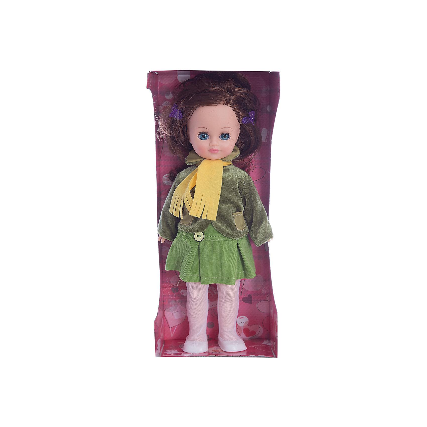 Кукла Маргарита 12, со звуком, ВеснаКукла Маргарита 12, со звуком, Весна.<br><br>Характеристики:<br><br>- Рост куклы: 38 см.<br>- Материал: голова и руки – винил, ноги и туловище- пластик<br>- Глаза вставные закрывающиеся<br>- Волосы: прошитые из нейлона<br>- Батарейки: 3 типа СЦ357 или других аналогичных (входят в комплект)<br><br>Озвученная кукла Маргарита из серии «Моя любимая кукла» станет любимой куклой и лучшей подружкой для Вашей девочки. Образ куклы тщательно проработан — одежда подобрана со вкусом и учетом направлений моды. Она одета в весенний комплект, который включает трикотажную блузку, вельветовую юбку с отрезной кокеткой с застёжками сзади на контактную ленту «Велкро», желтый шарфик, куртку из бархата с длинными рукавами и отложным воротником. На ножках – колготки и белые туфли. Все элементы одежды можно легко снять, чтобы переодеть куклу. Шикарные длинные волосы куклы, выполненные из нейлона, очень похожи на натуральные. Их можно заплетать в косу, завивать, расчёсывать и укладывать в разные причёски, меняя образ куклы. Выразительные глаза с пушистыми ресницами, закрываются, как только кукла принимает горизонтальное положение. Кукла умеет говорить, она произносит до 10 фраз при нажатии на звуковое устройство, находящееся у нее на спинке. Тело куклы выполнено пропорционально из качественного пластика, а руки и голова из эластичного, приятного на ощупь винила. Кукла имеет подвижные части тела, благодаря чему может принимать любую позу во время игры: её можно посадить, уложить спать и удобно переодевать. Кукла соответствует Техническому регламенту Таможенного Союза о безопасности игрушки.<br><br>Куклу Маргарита 12, со звуком, Весна можно купить в нашем интернет-магазине.<br><br>Ширина мм: 420<br>Глубина мм: 170<br>Высота мм: 100<br>Вес г: 360<br>Возраст от месяцев: 36<br>Возраст до месяцев: 144<br>Пол: Женский<br>Возраст: Детский<br>SKU: 4896504