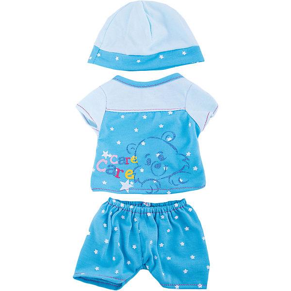 Одежда для кукол Пижама в наборе с шапочкойОдежда для кукол<br>Одежда для кукол: пижама в наборе с шапочкой, размер: 30x20см, текстильные материалы, от 1 года<br><br>Ширина мм: 300<br>Глубина мм: 200<br>Высота мм: 10<br>Вес г: 521<br>Возраст от месяцев: 36<br>Возраст до месяцев: 144<br>Пол: Женский<br>Возраст: Детский<br>SKU: 4896511