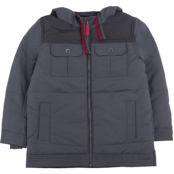 Куртка для мальчика PlayTodayДемисезонные куртки<br>Куртка для мальчика от известного бренда PlayToday.<br>Стильная куртка графитового цвета. Застегивается на молнию с защитой подбородка, есть 4 функциональных кармана. Капюшон утягивается шнурком.<br>Состав:<br>Верх: 100% полиэстер, Подкладка: 100% полиэстер, Наполнитель: 100% полиэстер, 250 г/м2<br><br>Ширина мм: 356<br>Глубина мм: 10<br>Высота мм: 245<br>Вес г: 519<br>Цвет: серый<br>Возраст от месяцев: 72<br>Возраст до месяцев: 84<br>Пол: Мужской<br>Возраст: Детский<br>Размер: 122,104,128,116,110,98<br>SKU: 4896536