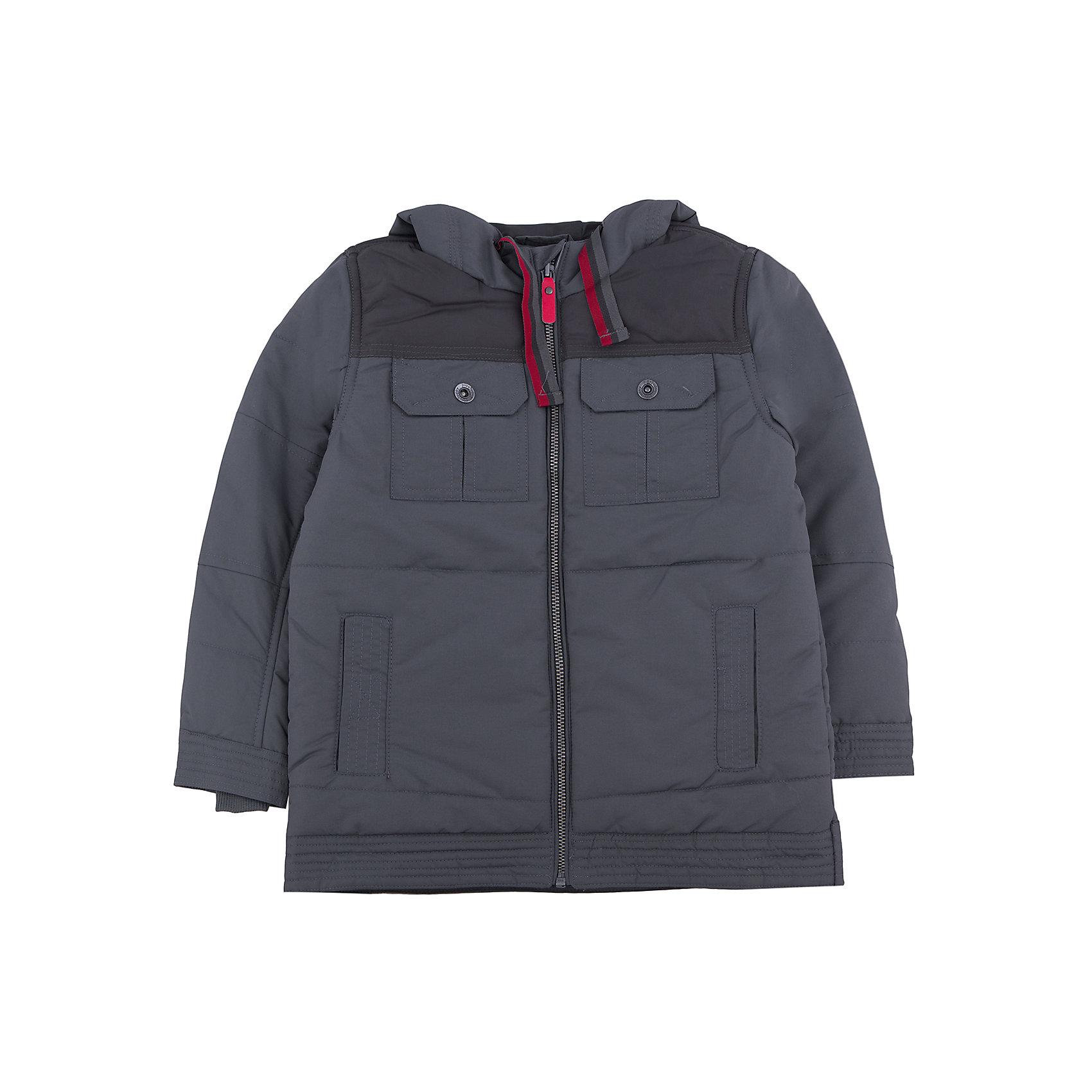 Куртка для мальчика PlayTodayКуртка для мальчика от известного бренда PlayToday.<br>Стильная куртка графитового цвета. Застегивается на молнию с защитой подбородка, есть 4 функциональных кармана. Капюшон утягивается шнурком.<br>Состав:<br>Верх: 100% полиэстер, Подкладка: 100% полиэстер, Наполнитель: 100% полиэстер, 250 г/м2<br><br>Ширина мм: 356<br>Глубина мм: 10<br>Высота мм: 245<br>Вес г: 519<br>Цвет: серый<br>Возраст от месяцев: 36<br>Возраст до месяцев: 48<br>Пол: Мужской<br>Возраст: Детский<br>Размер: 110,116,128,104,122,98<br>SKU: 4896536