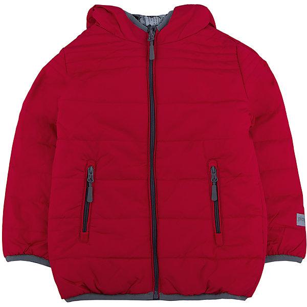 Куртка для мальчика PlayTodayДемисезонные куртки<br>Куртка для мальчика от известного бренда PlayToday.<br>Стильная и яркая стеганая куртка с капюшоном. Застегивается на молнию. Двухсторонняя, можно носить как красной стороной наружу, так и принтованной в стиле милитари. Есть два функциональных кармана на молнии и светоотражатели. Края обработаны эластичным кантом.<br>Состав:<br>Верх: 100% полиэстер, Подкладка: 100% полиэстер, Наполнитель: 100% полиэстер, 250 г/м2<br><br>Ширина мм: 356<br>Глубина мм: 10<br>Высота мм: 245<br>Вес г: 519<br>Цвет: белый<br>Возраст от месяцев: 24<br>Возраст до месяцев: 36<br>Пол: Мужской<br>Возраст: Детский<br>Размер: 98,104,122,110,116,128<br>SKU: 4896543