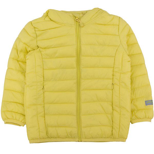Куртка для мальчика PlayTodayДемисезонные куртки<br>Куртка для мальчика от известного бренда PlayToday.<br>Яркая лимонно-лаймовая стеганая куртка с капюшоном. Специально для капризов нашей погоды: легкая, можно удобно сложить и носить в сумке или рюкзаке. Защитит от ветра и легкого дождя.Застегивается на молнию с внутренней ветрозащитной планкой и защитой подбородка. Края обработаны эластичным кантом. <br>Состав:<br>Верх: 100% нейлон, подкладка: 100% нейлон, наполнитель: 100% полиэстер, 150 г<br>Ширина мм: 356; Глубина мм: 10; Высота мм: 245; Вес г: 519; Цвет: желтый; Возраст от месяцев: 60; Возраст до месяцев: 72; Пол: Мужской; Возраст: Детский; Размер: 116,104,122,98,110,128; SKU: 4896550;