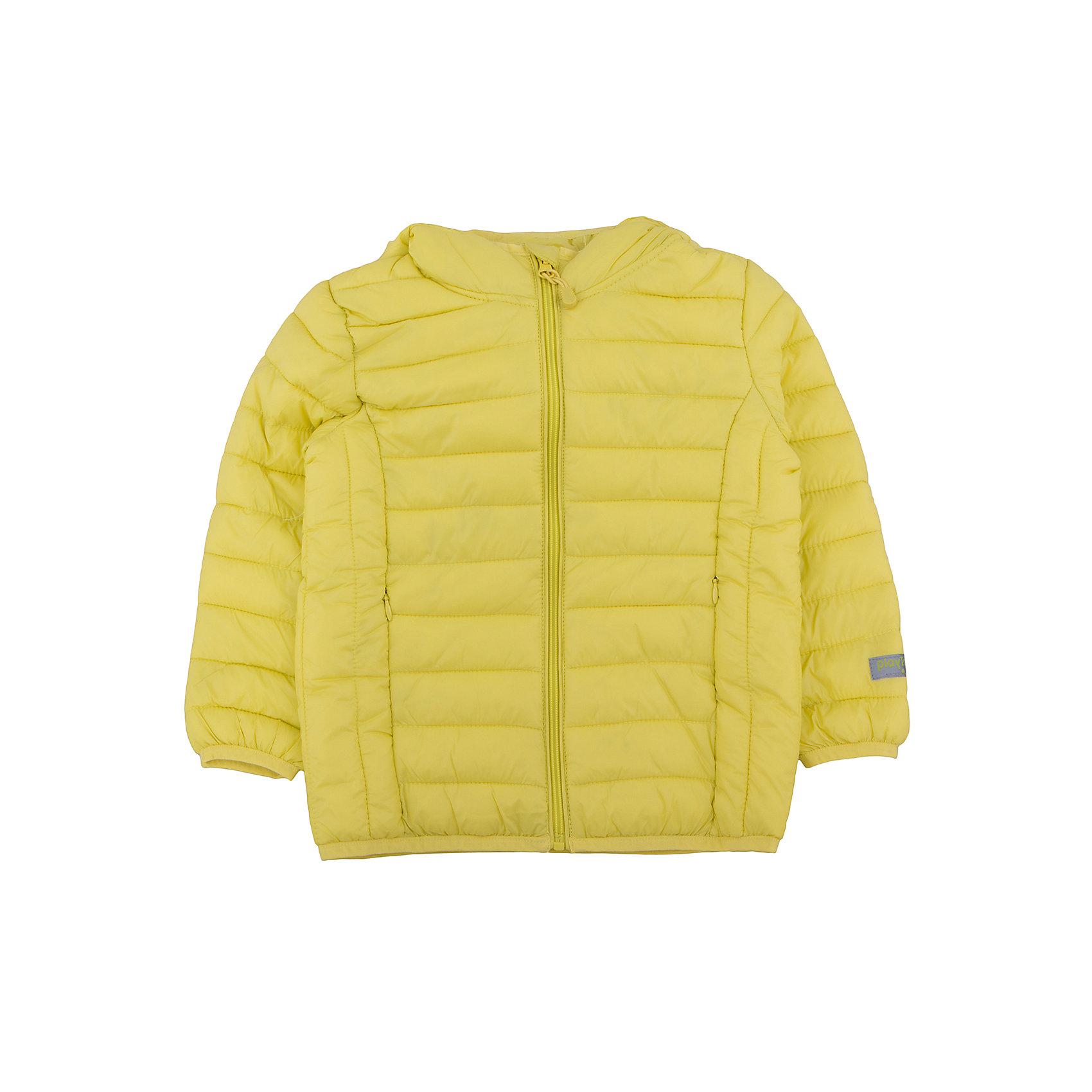Куртка для мальчика PlayTodayДемисезонные куртки<br>Куртка для мальчика от известного бренда PlayToday.<br>Яркая лимонно-лаймовая стеганая куртка с капюшоном. Специально для капризов нашей погоды: легкая, можно удобно сложить и носить в сумке или рюкзаке. Защитит от ветра и легкого дождя.Застегивается на молнию с внутренней ветрозащитной планкой и защитой подбородка. Края обработаны эластичным кантом. <br>Состав:<br>Верх: 100% нейлон, подкладка: 100% нейлон, наполнитель: 100% полиэстер, 150 г<br><br>Ширина мм: 356<br>Глубина мм: 10<br>Высота мм: 245<br>Вес г: 519<br>Цвет: желтый<br>Возраст от месяцев: 84<br>Возраст до месяцев: 96<br>Пол: Мужской<br>Возраст: Детский<br>Размер: 128,122,104,116,110,98<br>SKU: 4896550