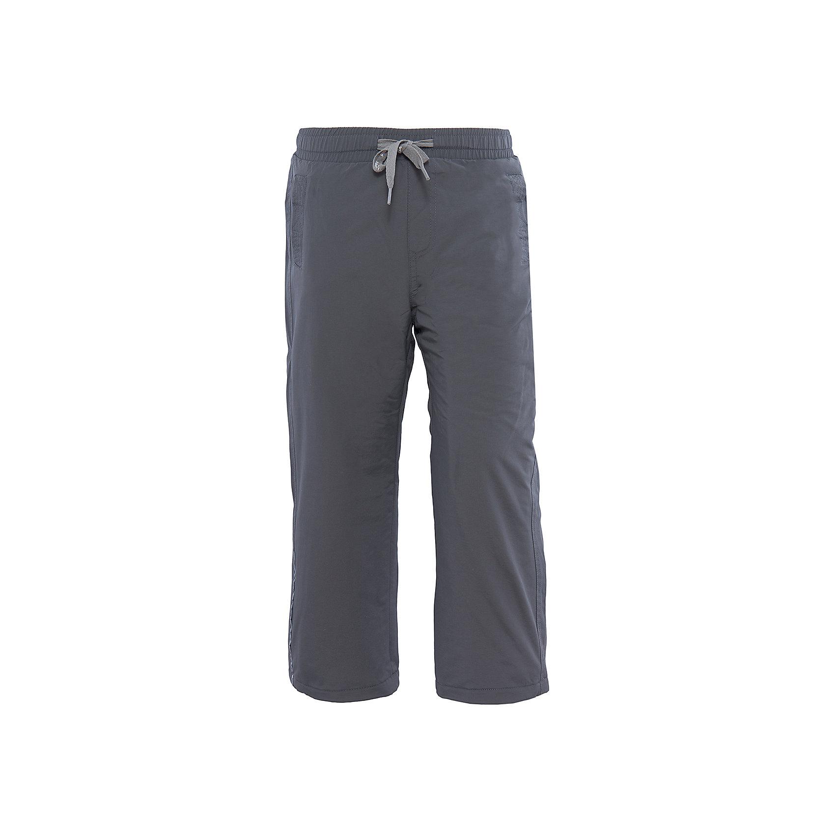 Брюки для мальчика PlayTodayВерхняя одежда<br>Брюки для мальчика от известного бренда PlayToday.<br>Стильные утепленные брюки цвета темный графит. Пояс на резинке, дополнительно регулируется тесьмой. Есть два кармана на липучках. Внутри уютная флисовая подкладка. Низ штанишек утягивается стопперами.<br>Состав:<br>Верх: 100% нейлон, подкладка: 100% полиэстер<br><br>Ширина мм: 215<br>Глубина мм: 88<br>Высота мм: 191<br>Вес г: 336<br>Цвет: серый<br>Возраст от месяцев: 36<br>Возраст до месяцев: 48<br>Пол: Мужской<br>Возраст: Детский<br>Размер: 104,122,128,110,116,98<br>SKU: 4896571