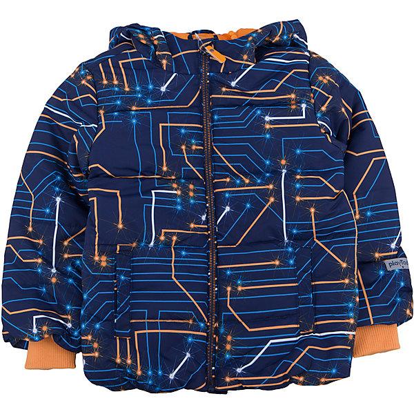Куртка для мальчика PlayTodayДемисезонные куртки<br>Куртка для мальчика от известного бренда PlayToday.<br>Уютная хлопковая футболка с длинными рукавами. Украшена комбинацией резинового и водного принтов. На воротнике мягкая трикотажная резинка.<br>Состав:<br>Верх: 100% полиэстер, Подкладка: 100% полиэстер, Наполнитель: 100% полиэстер, 250 г/м2<br><br>Ширина мм: 356<br>Глубина мм: 10<br>Высота мм: 245<br>Вес г: 519<br>Цвет: белый<br>Возраст от месяцев: 72<br>Возраст до месяцев: 84<br>Пол: Мужской<br>Возраст: Детский<br>Размер: 122,104,128,116,110,98<br>SKU: 4896717