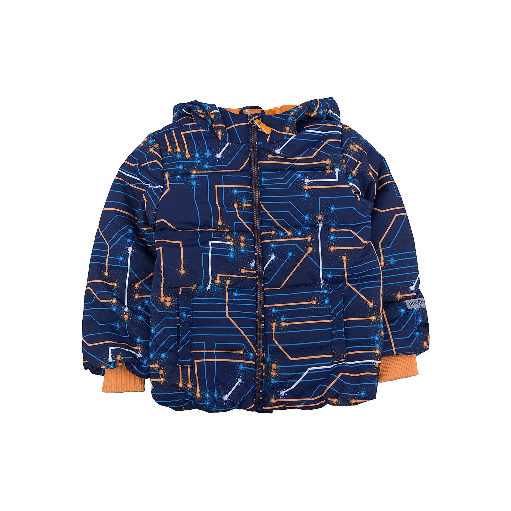 Куртка для мальчика PlayTodayКуртка для мальчика от известного бренда PlayToday.<br>Уютная хлопковая футболка с длинными рукавами. Украшена комбинацией резинового и водного принтов. На воротнике мягкая трикотажная резинка.<br>Состав:<br>Верх: 100% полиэстер, Подкладка: 100% полиэстер, Наполнитель: 100% полиэстер, 250 г/м2<br><br>Ширина мм: 356<br>Глубина мм: 10<br>Высота мм: 245<br>Вес г: 519<br>Цвет: разноцветный<br>Возраст от месяцев: 36<br>Возраст до месяцев: 48<br>Пол: Мужской<br>Возраст: Детский<br>Размер: 98,104,122,110,116,128<br>SKU: 4896717
