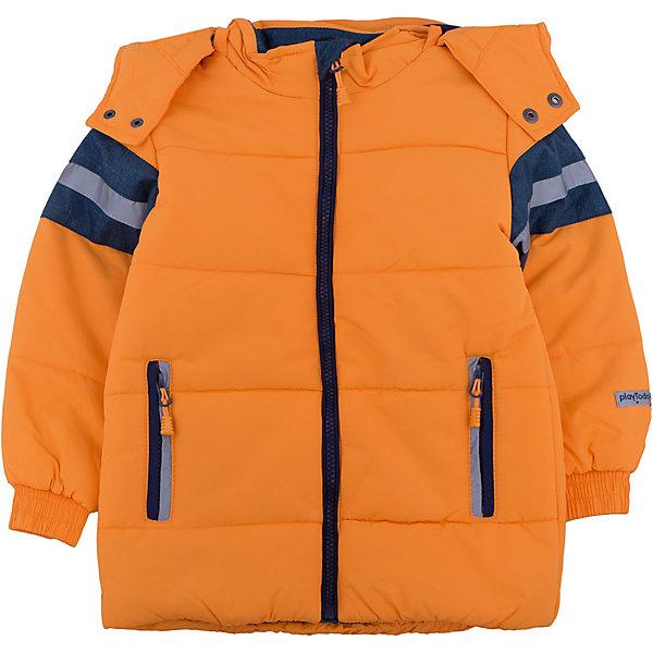 Куртка для мальчика PlayTodayВерхняя одежда<br>Куртка для мальчика от известного бренда PlayToday.<br>Стильная куртка ярко-оранжевого цвета. Украшена полосками с имитацией джинсовой ткани и светоотражателями. Застегивается на молнию с защитой подбородка. Рукава и низ на резинке. Есть два функциональных кармана на молнии. Капюшон утягивается стопперами и удобно отстегивается.<br>Состав:<br>Верх: 100% нейлон, подкладка: 100% полиэстер, наполнитель: 100% полиэстер, 260 г/м2<br><br>Ширина мм: 356<br>Глубина мм: 10<br>Высота мм: 245<br>Вес г: 519<br>Цвет: оранжевый<br>Возраст от месяцев: 48<br>Возраст до месяцев: 60<br>Пол: Мужской<br>Возраст: Детский<br>Размер: 98,116,128,110,104,122<br>SKU: 4896731