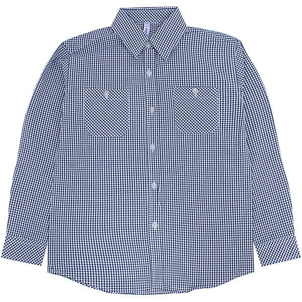 Рубашка для мальчика PlayTodayБлузки и рубашки<br>Рубашка для мальчика от известного бренда PlayToday.<br>Стильная сорочка в мелкую темно-синюю клетку. Застегивается на прозрачные пуговицы. Классический отложной воротничок. Манжеты на двух пуговках. На полочке два функциональных кармана.<br>Состав:<br>100% хлопок<br><br>Ширина мм: 174<br>Глубина мм: 10<br>Высота мм: 169<br>Вес г: 157<br>Цвет: синий<br>Возраст от месяцев: 36<br>Возраст до месяцев: 48<br>Пол: Мужской<br>Возраст: Детский<br>Размер: 104,98,122,116,110,128<br>SKU: 4896752
